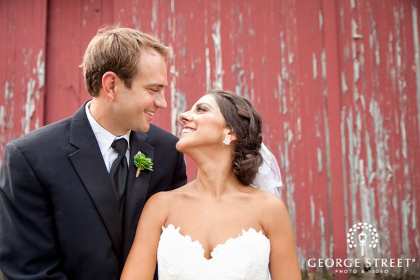 Rustic Country Chic Wedding Trend Red Barn Southern Bride Groom