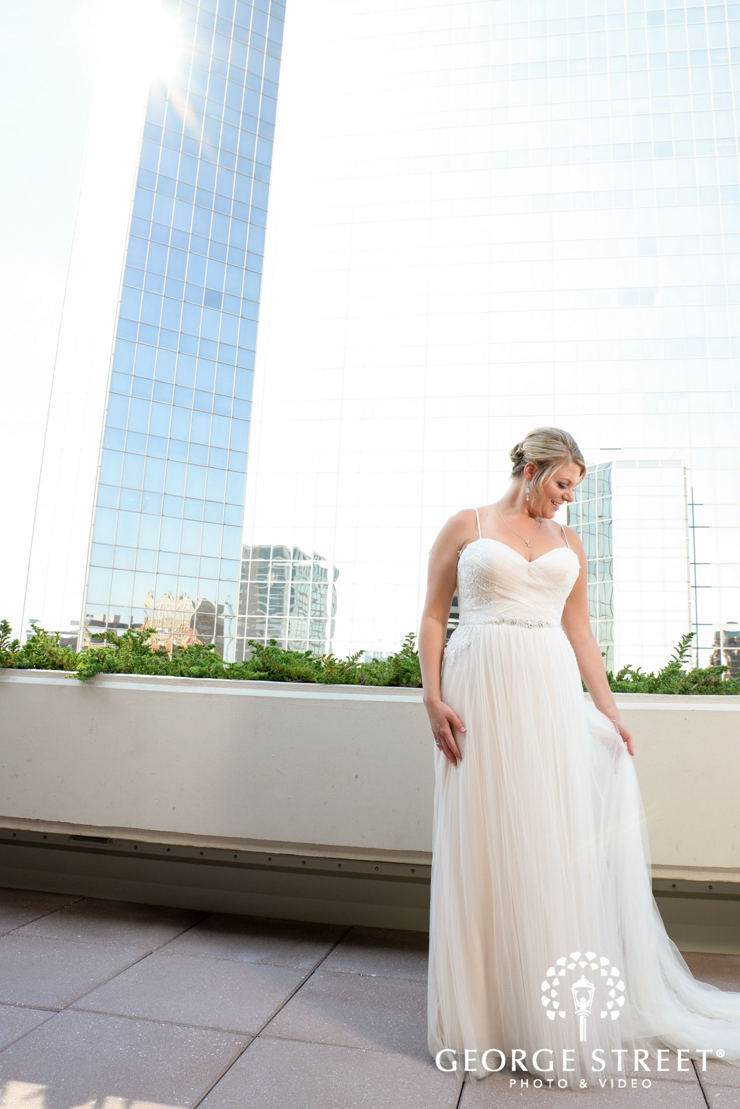 Amy and Alexis' Luminous Rooftop Wedding, Dallas - George