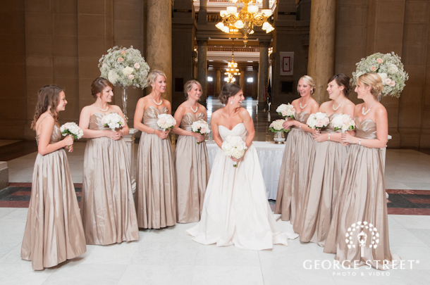 Rose gold indianapolis wedding george street photo for Georges chakra gold wedding dress price