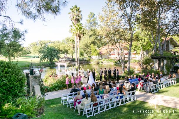 Ashley Josh Glamorous Garden Wedding Los Angeles