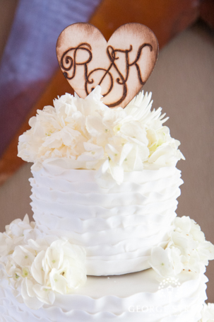 Rustic Country Chic Wedding Trend Southern Monogram Cake Topper