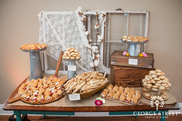 Rustic Country Chic Wedding Reception Trend Dessert Sweet Table