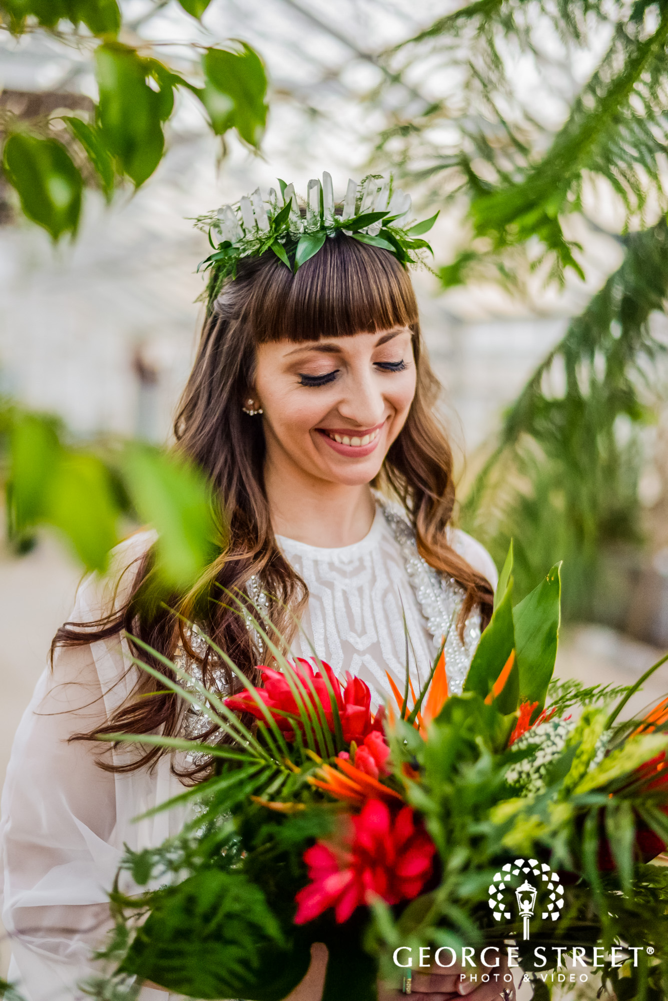 Flower crown inspiration for your own royal wedding george street greenery can bring the fresh and modern touch to your flower crown its a beautiful option for spring and summer weddings izmirmasajfo