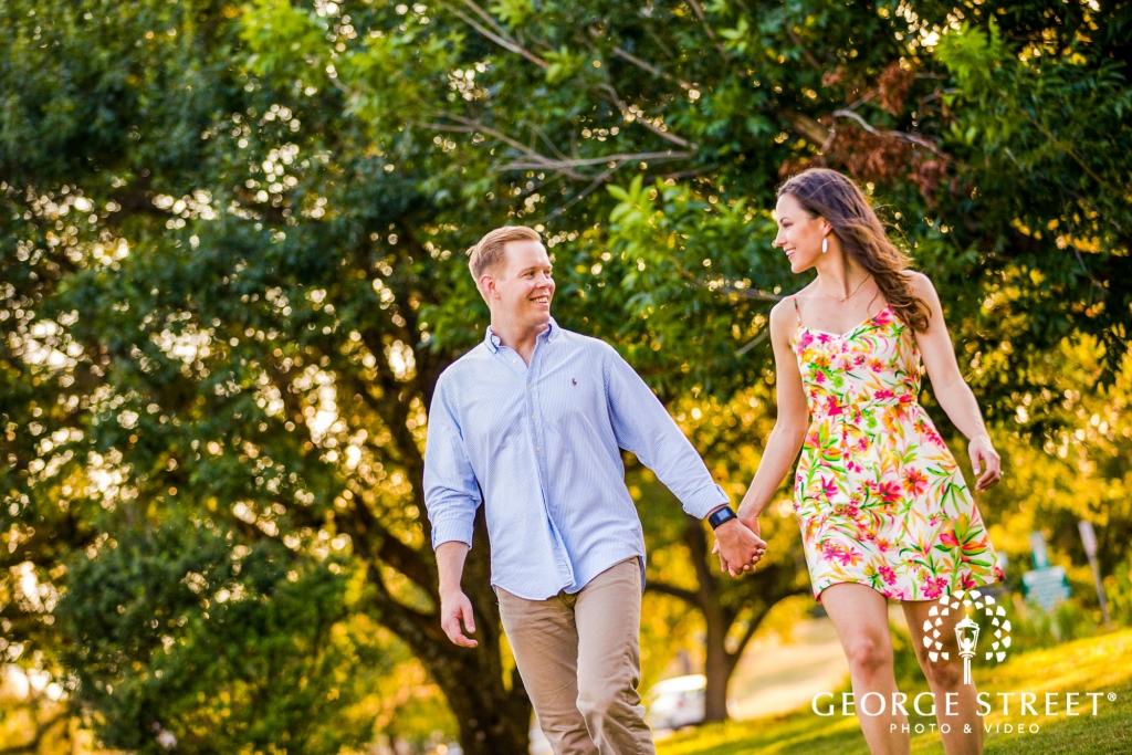 zilker metropolitan park casual walk austin engagement photos 2 1024 683