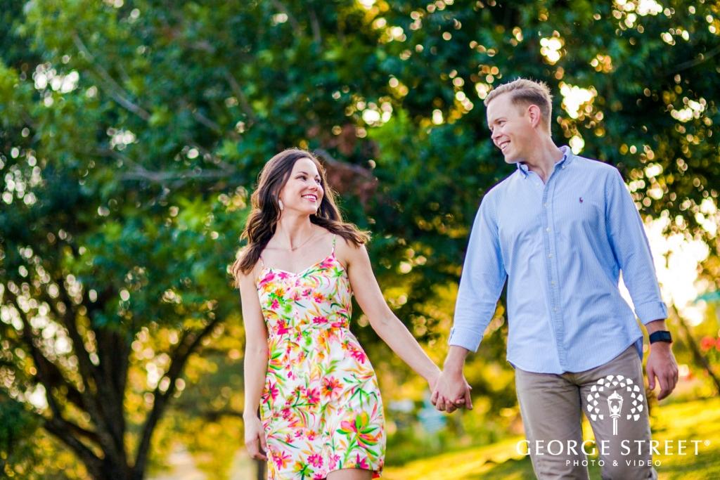 zilker metropolitan park cute tree sunrays austin engagement photos 7 1024 683