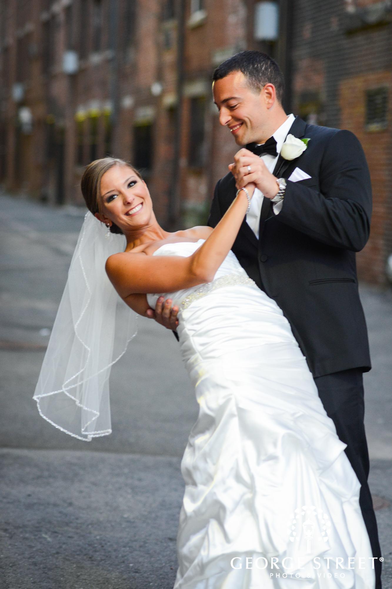 bride and groom outdoor portrait 2