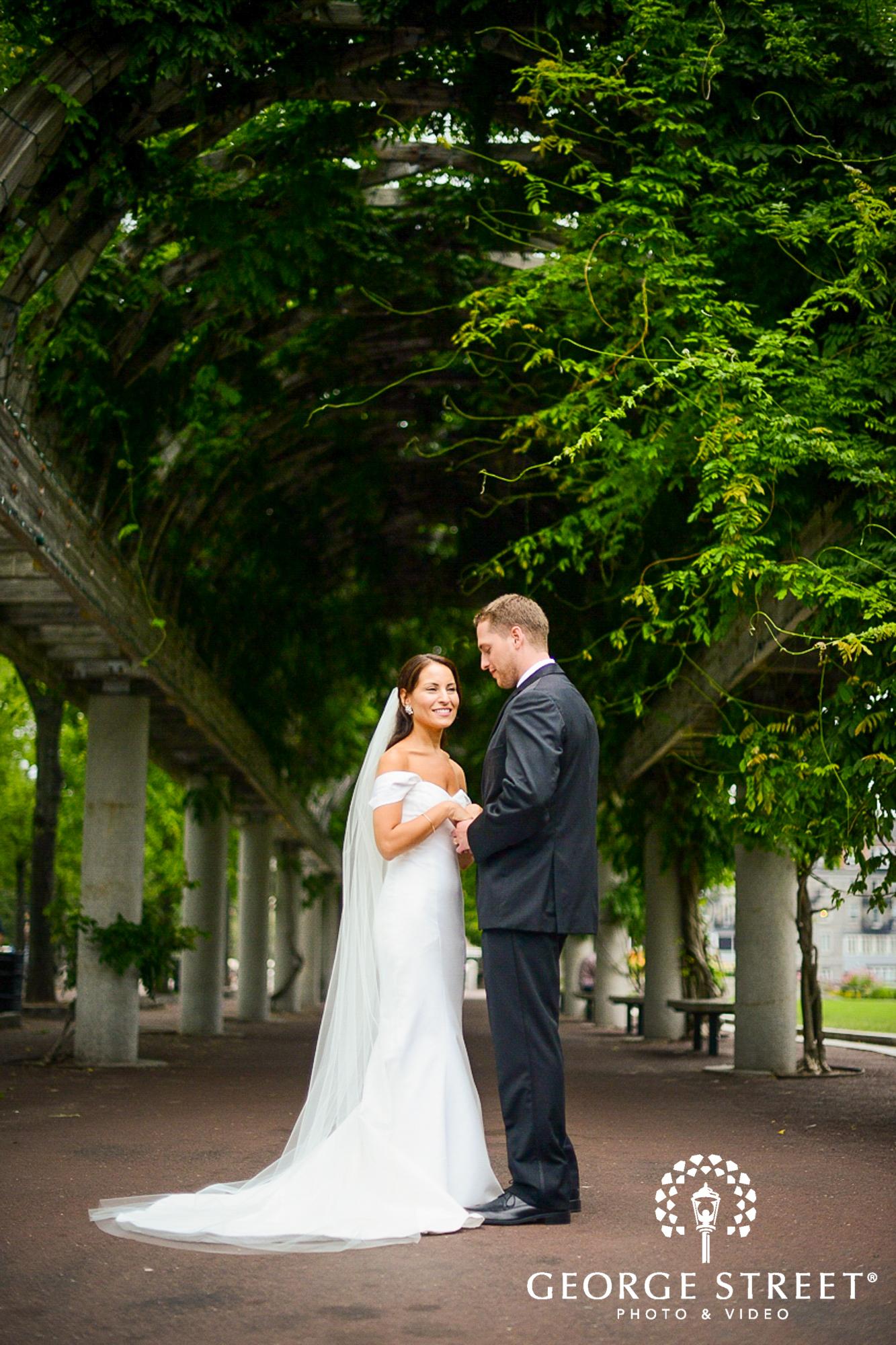 bride and groom outdoor portrait 3