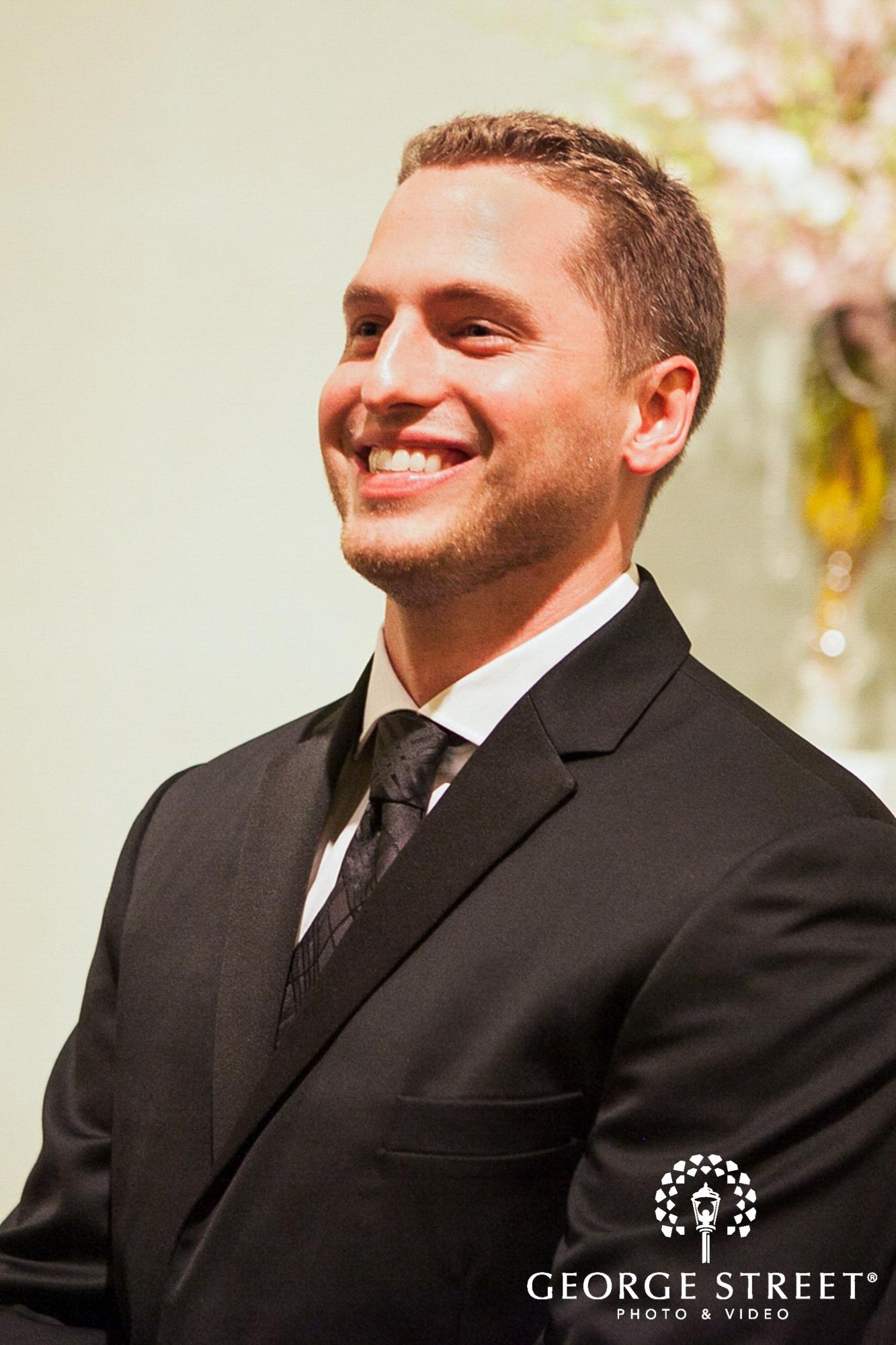 groom reaction at altar