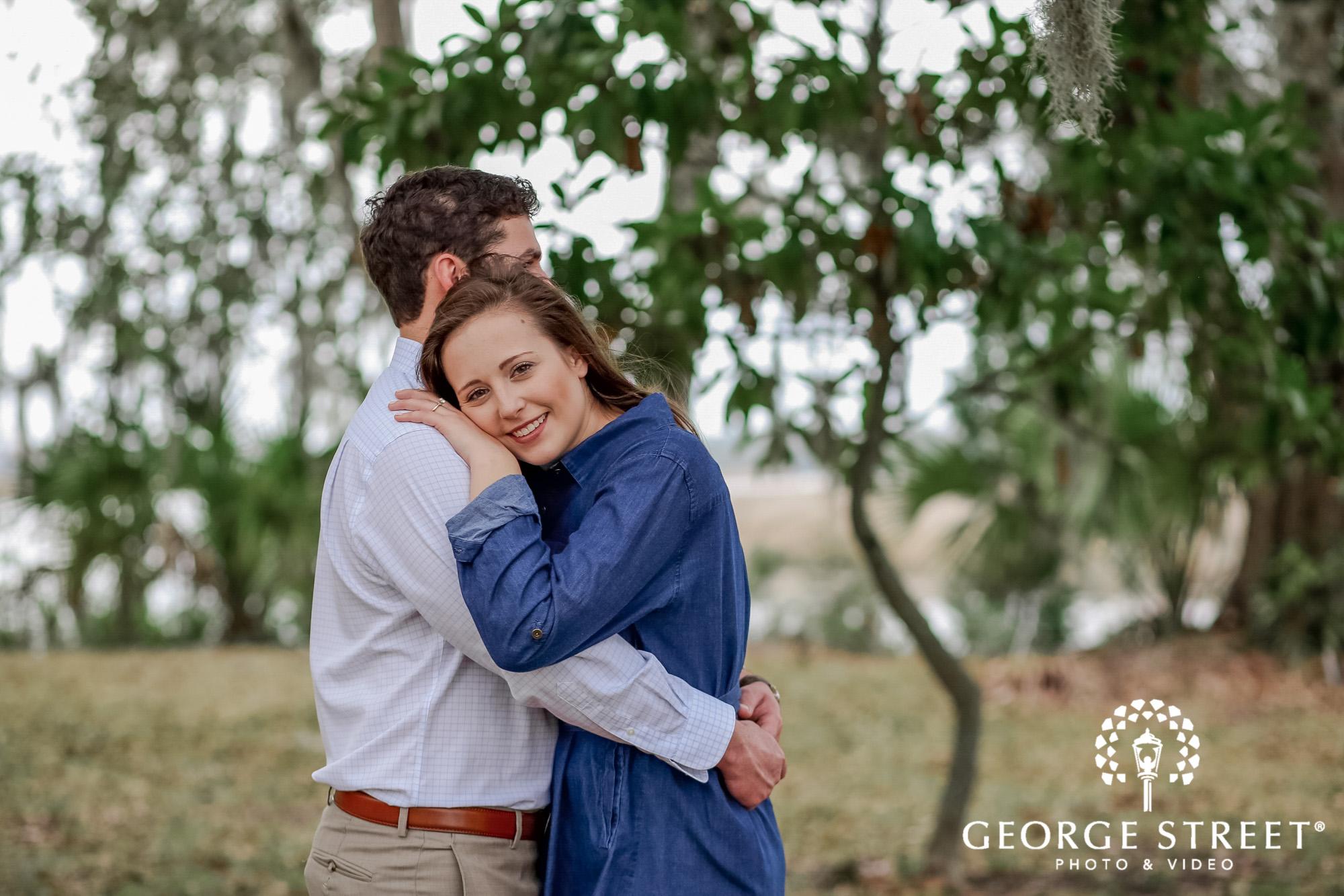 runnymede plantation adorable trees charleston engagement photography
