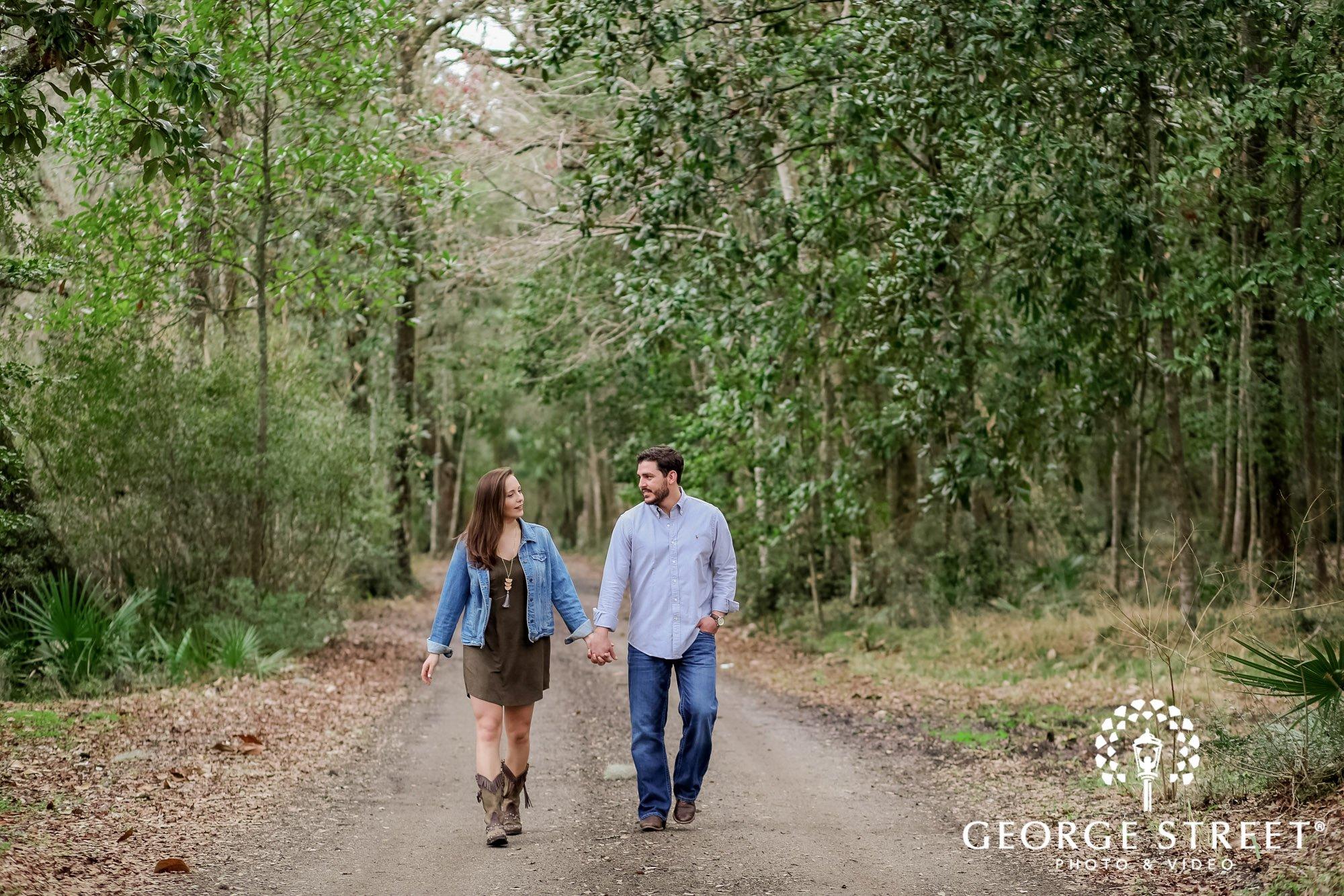 runnymede plantation charming green pathway charleston engagement photography 3