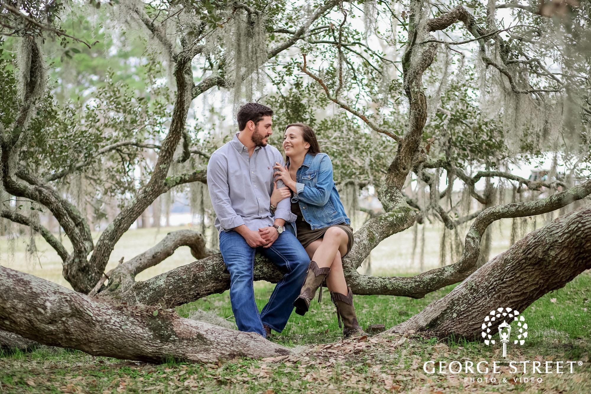 runnymede plantation joyful log charleston engagement photography 2
