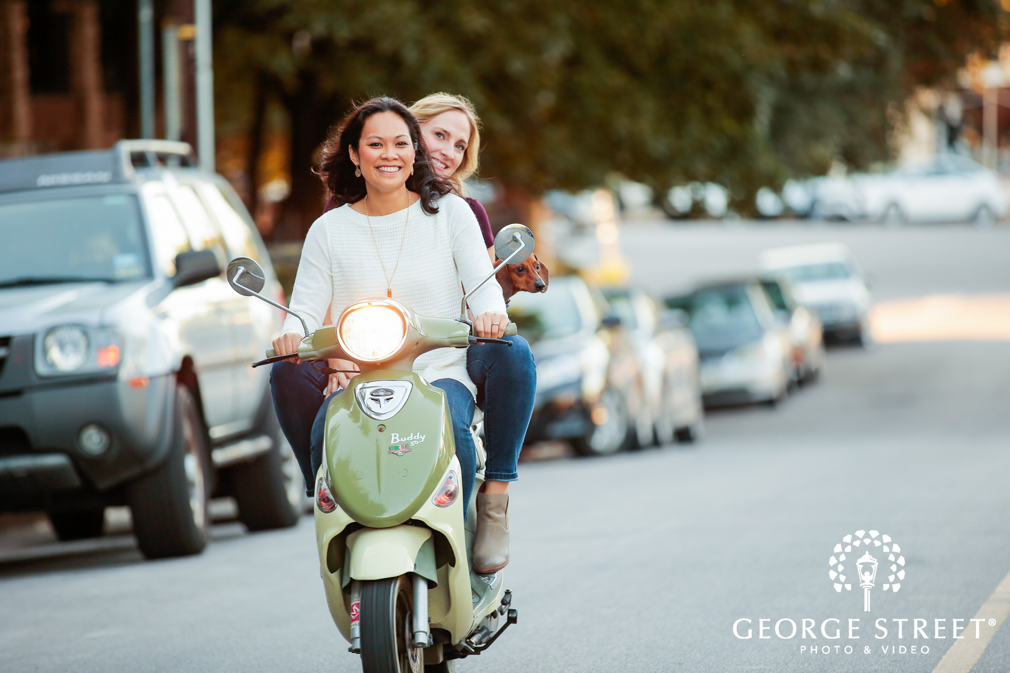 engagement photo session with vespa 2