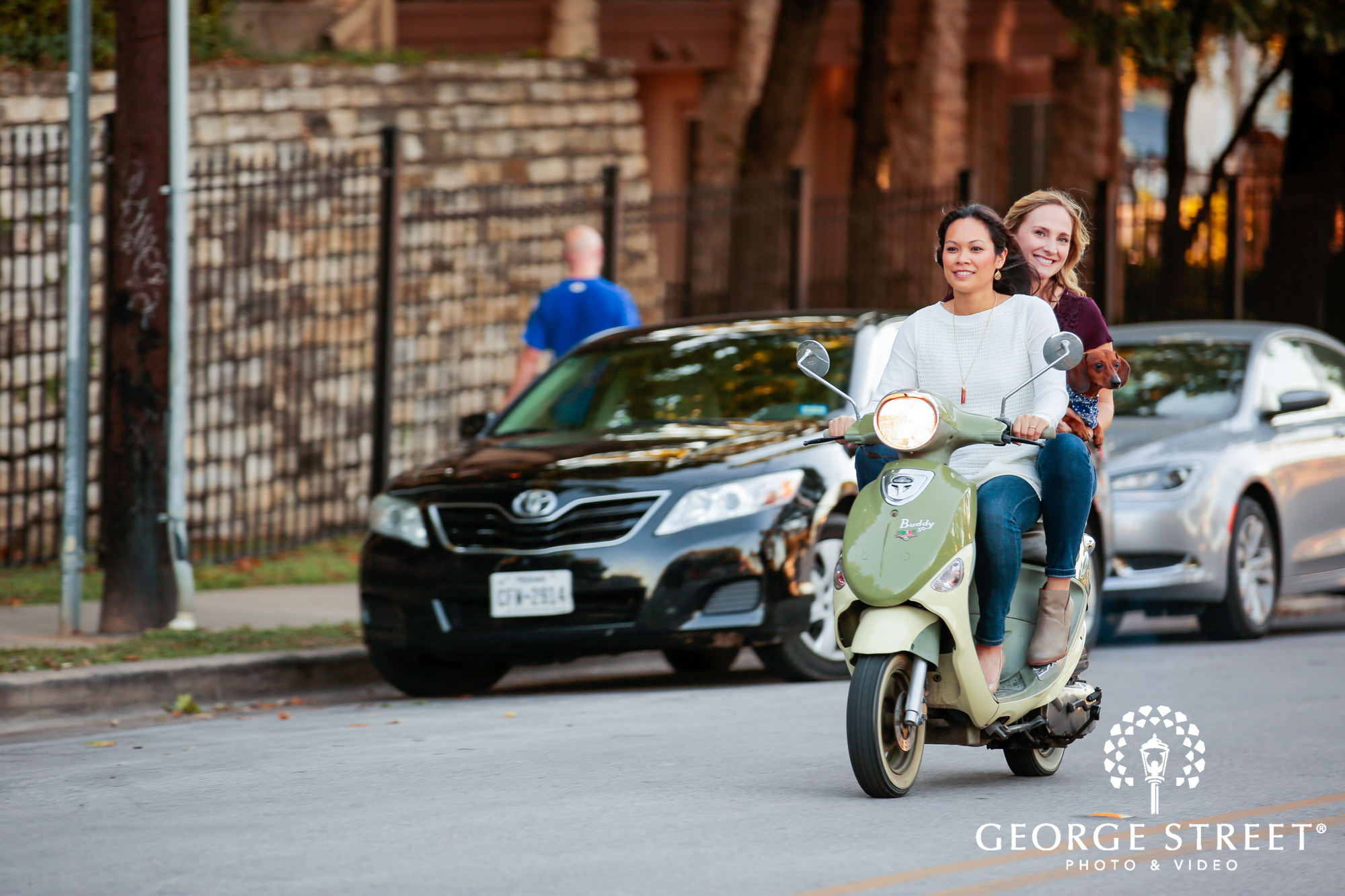 engagement photo session with vespa 3