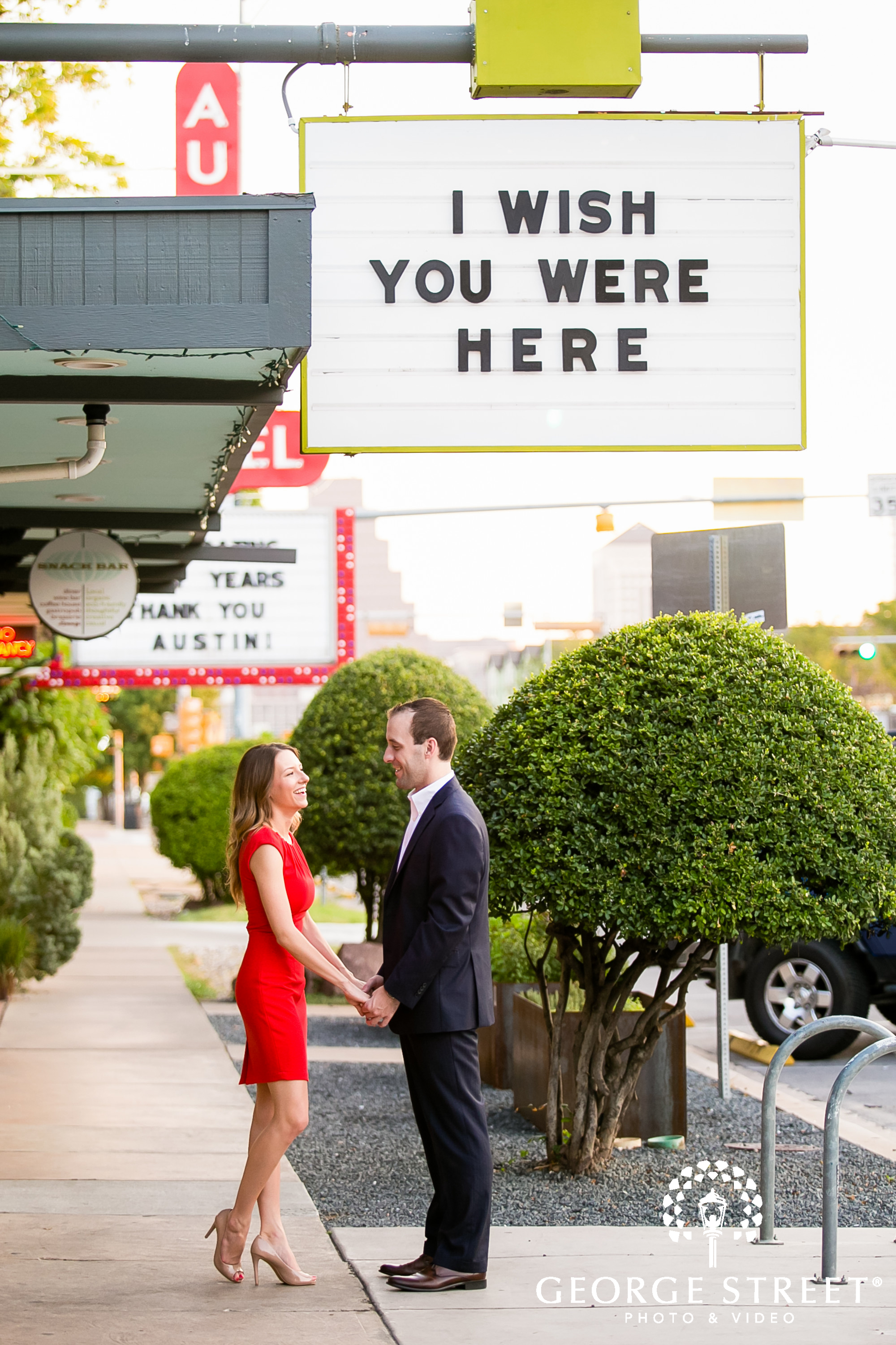 wish you were here graphic sign engagement session