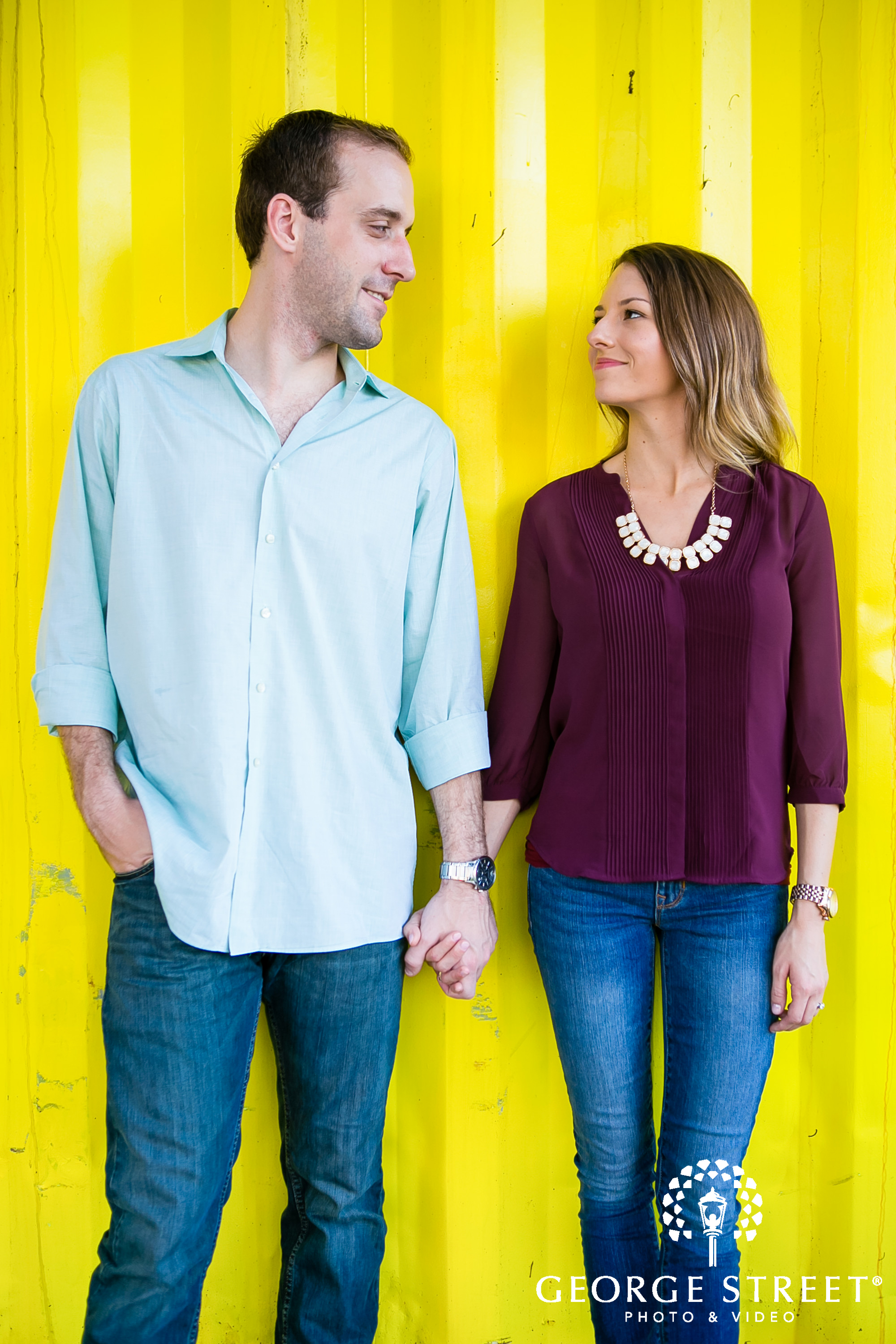 yellow color pop background engagement location