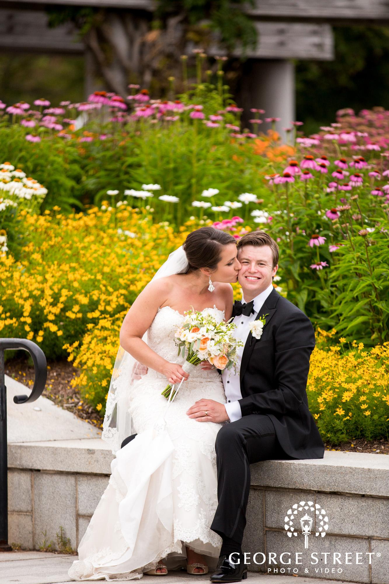 boston marriott long wharf beautiful outdoor wedding portraits downtown bride and groom 2