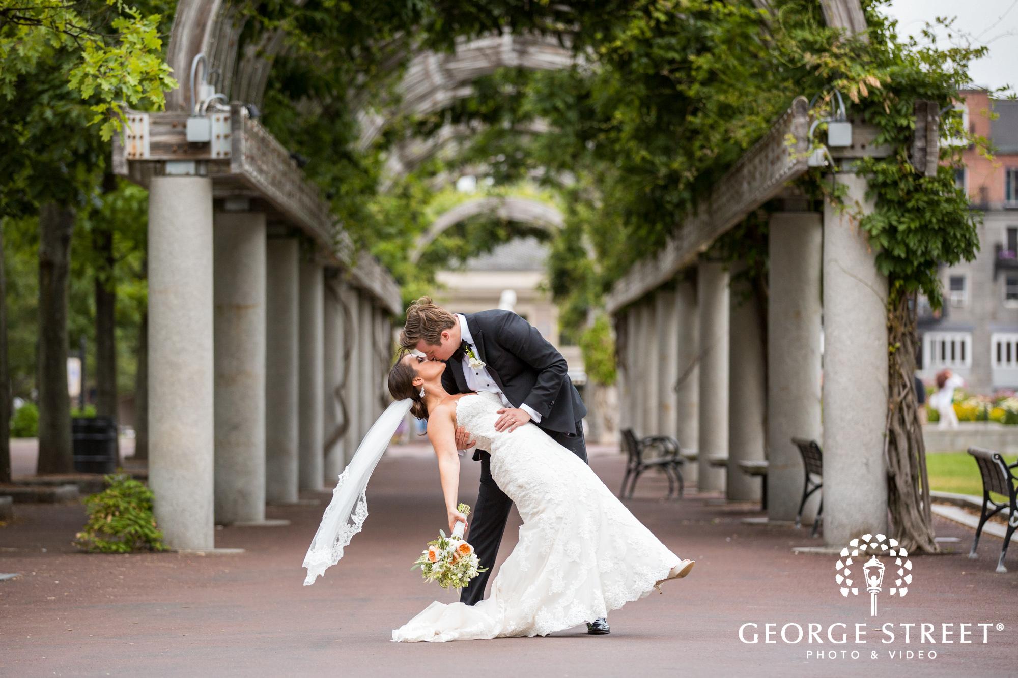 boston marriott long wharf beautiful outdoor wedding portraits downtown bride and groom 4