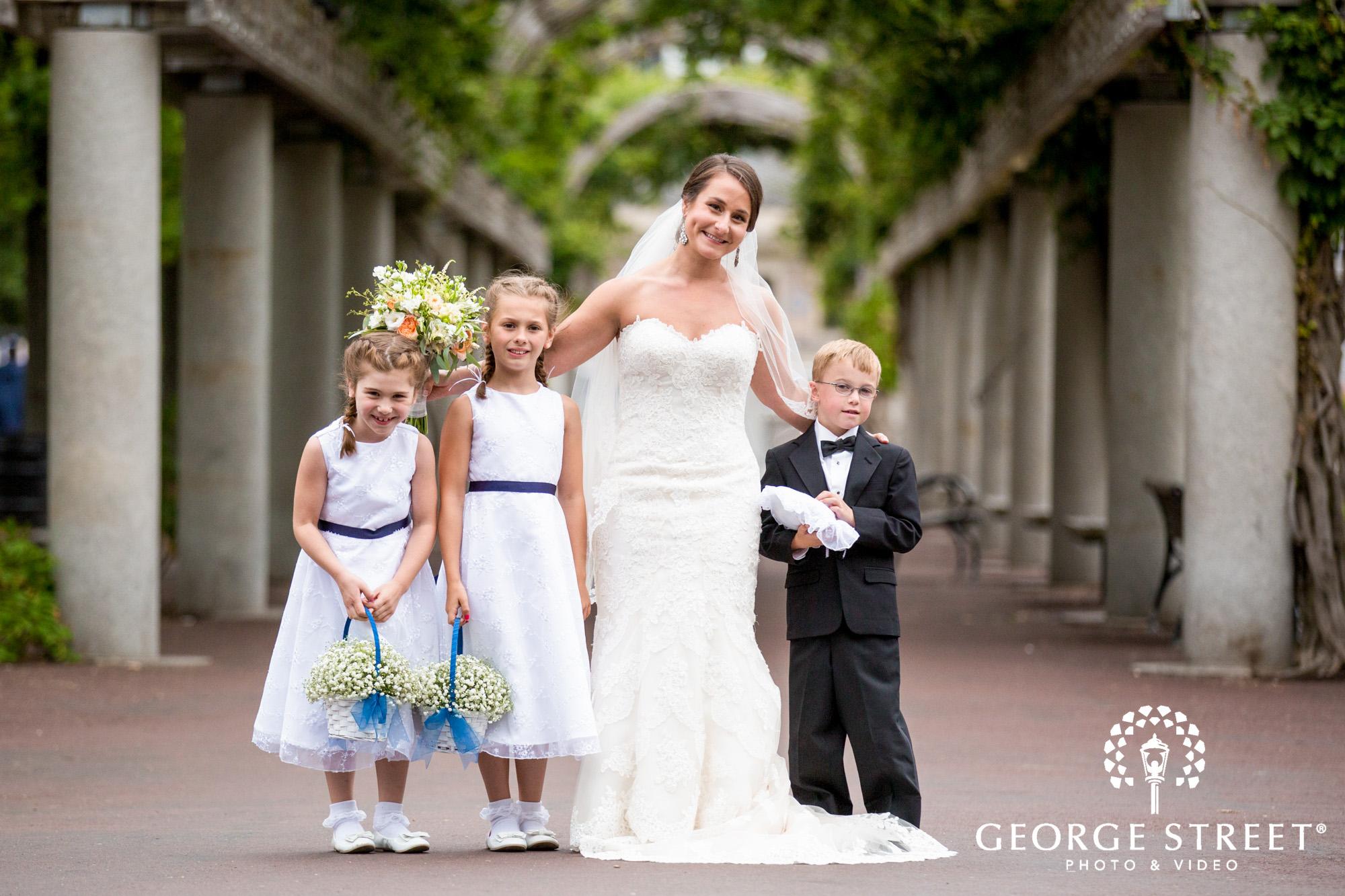 boston marriott long wharf beautiful outdoor wedding portraits downtown boston flower girl and ring bearer portraits