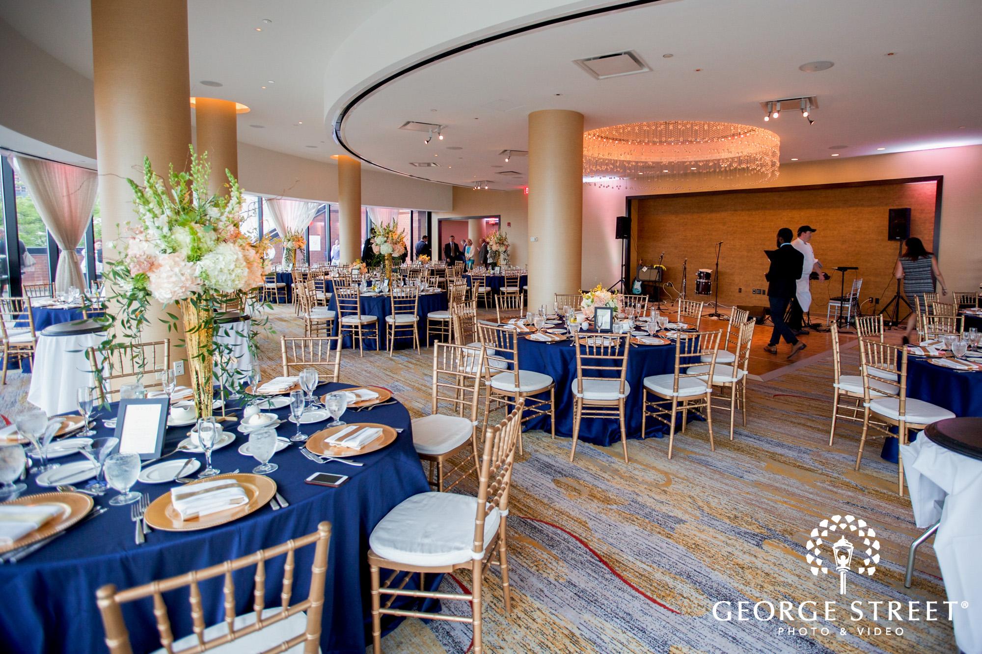 boston marriott long wharf indoor wedding reception