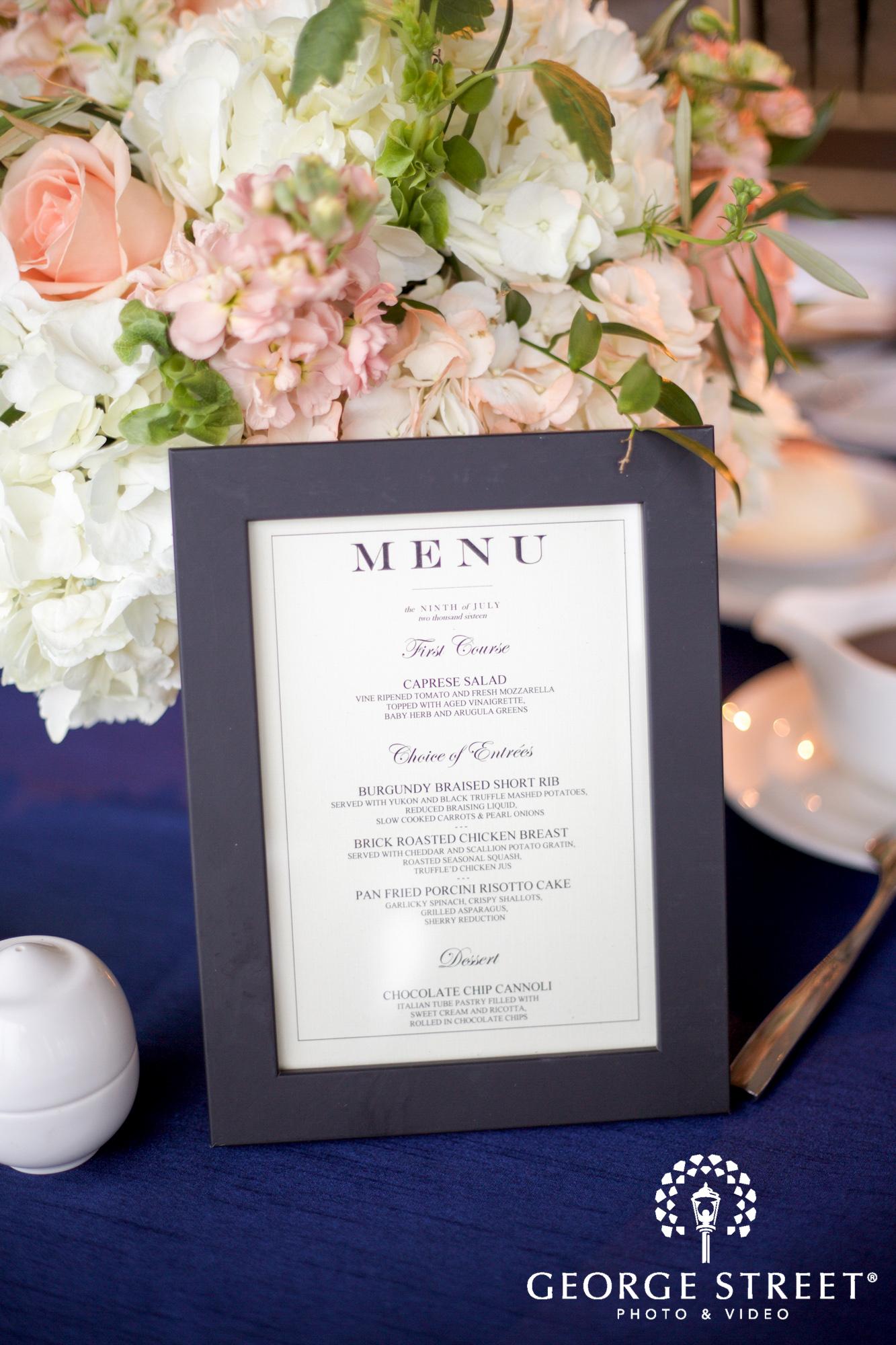boston marriott long wharf indoor wedding reception menu