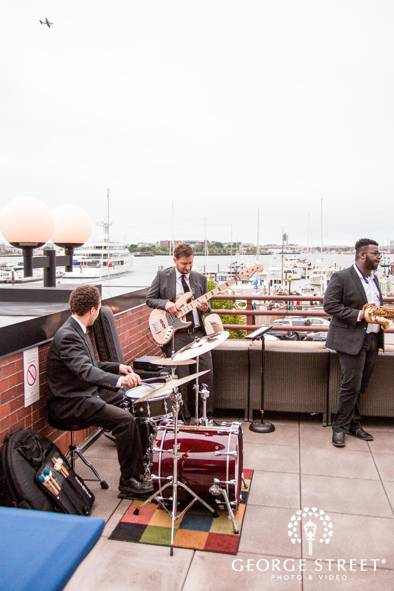boston marriott long wharf wedding reception outdoor band