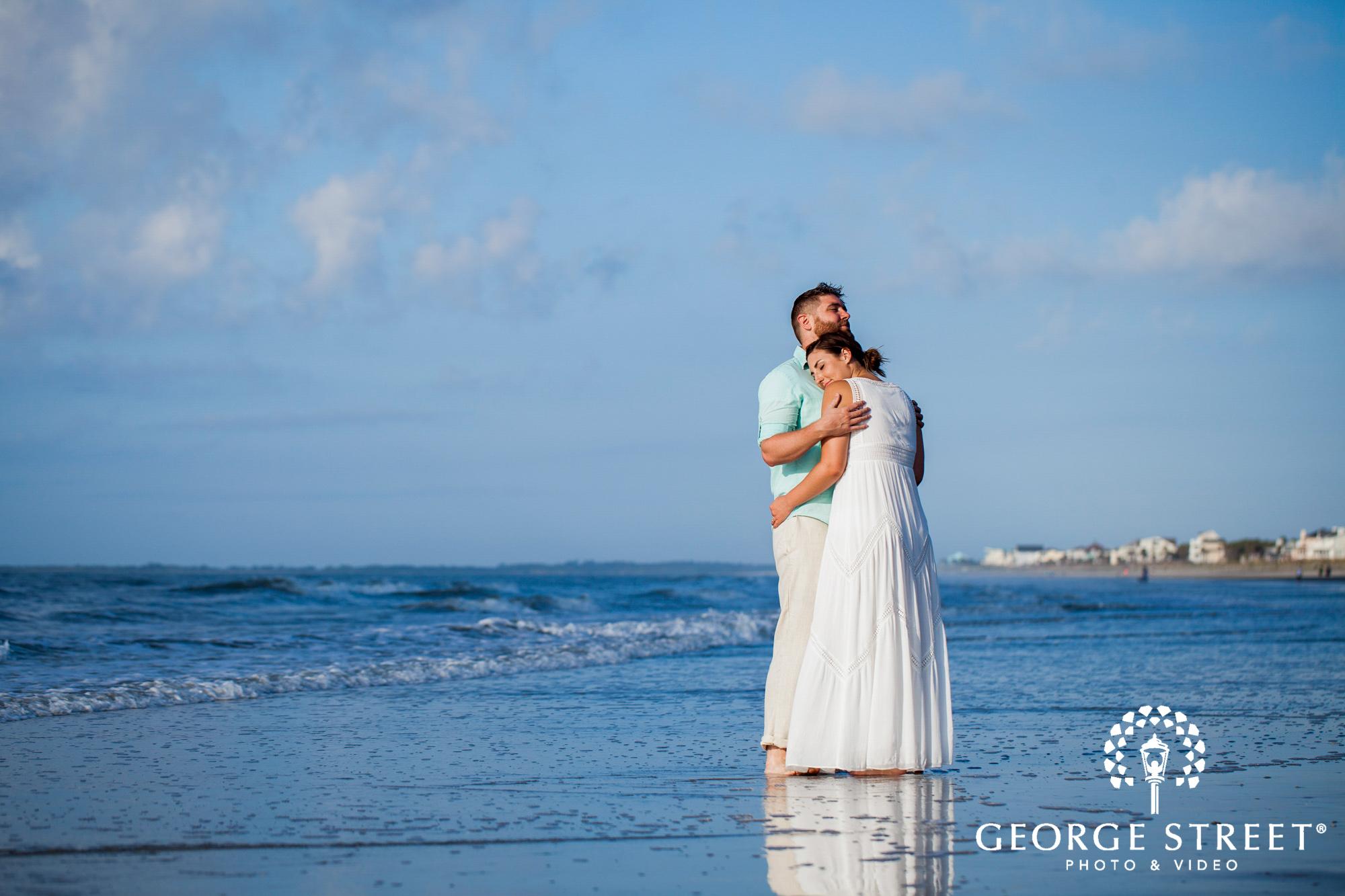 airy charleston beach engagement photo session 2