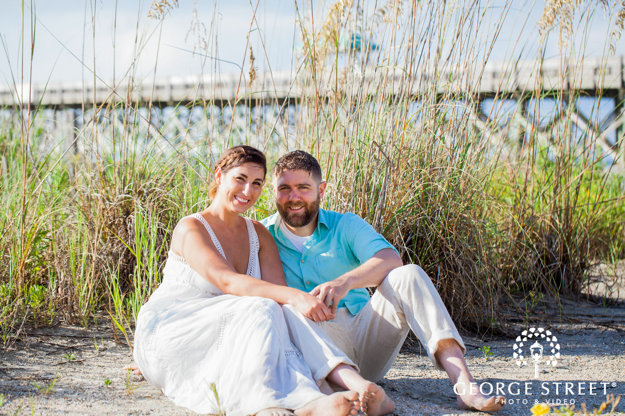 bright and airy charleston engagement photo session 2
