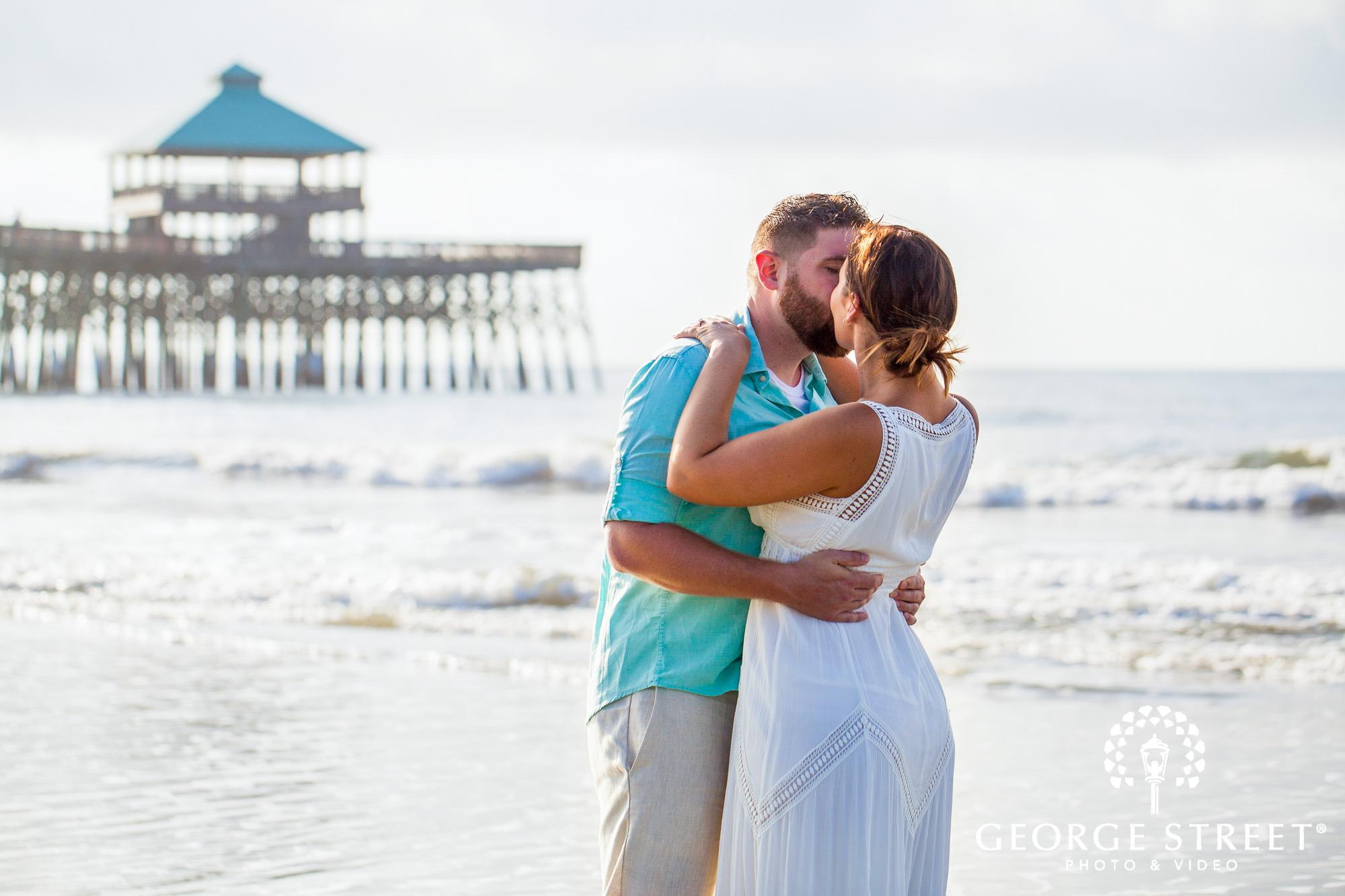 gorgeous charleston beach engagement photos at tides folly beach 2