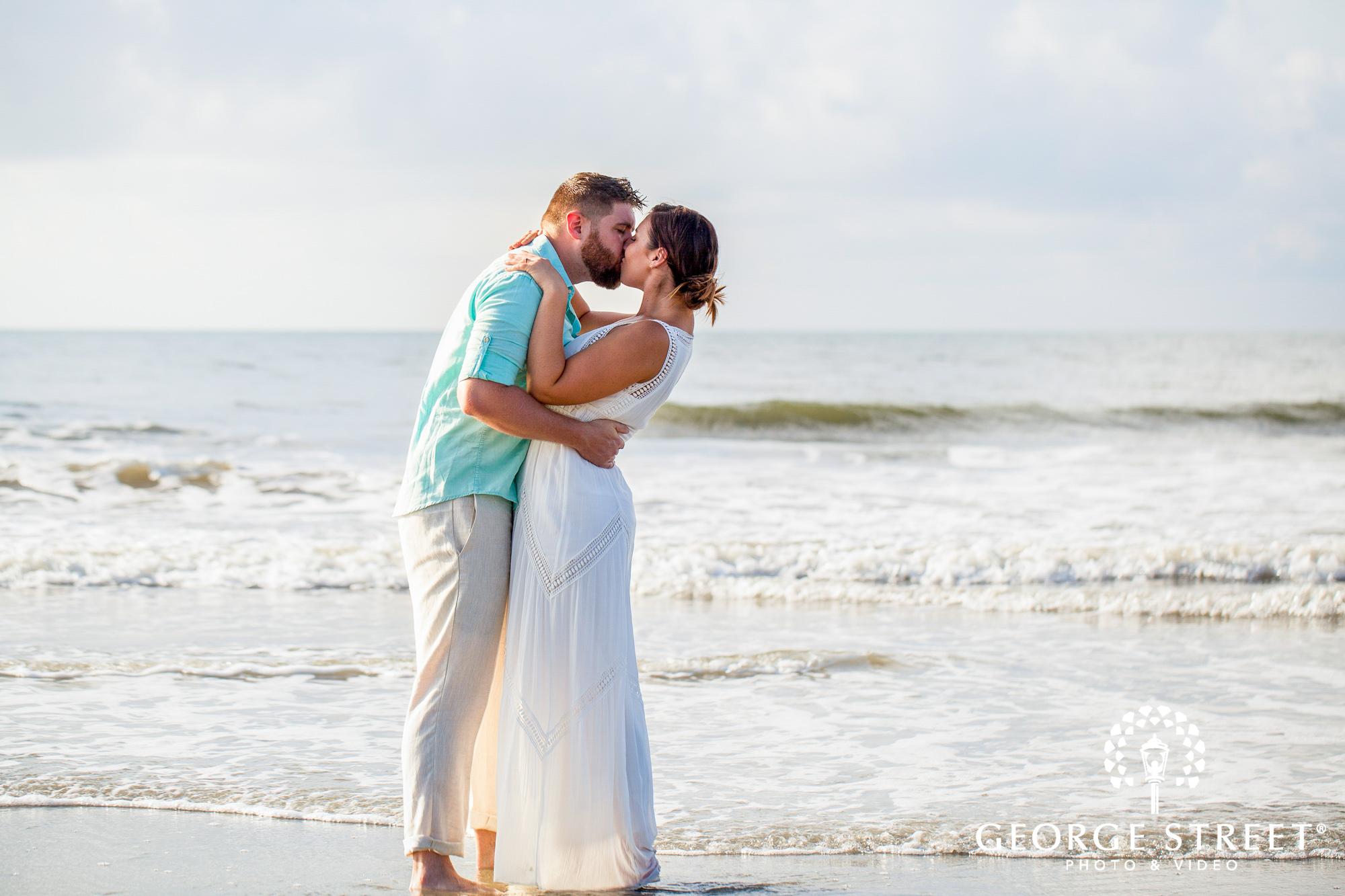 gorgeous charleston beach engagement photos at tides folly beach 3
