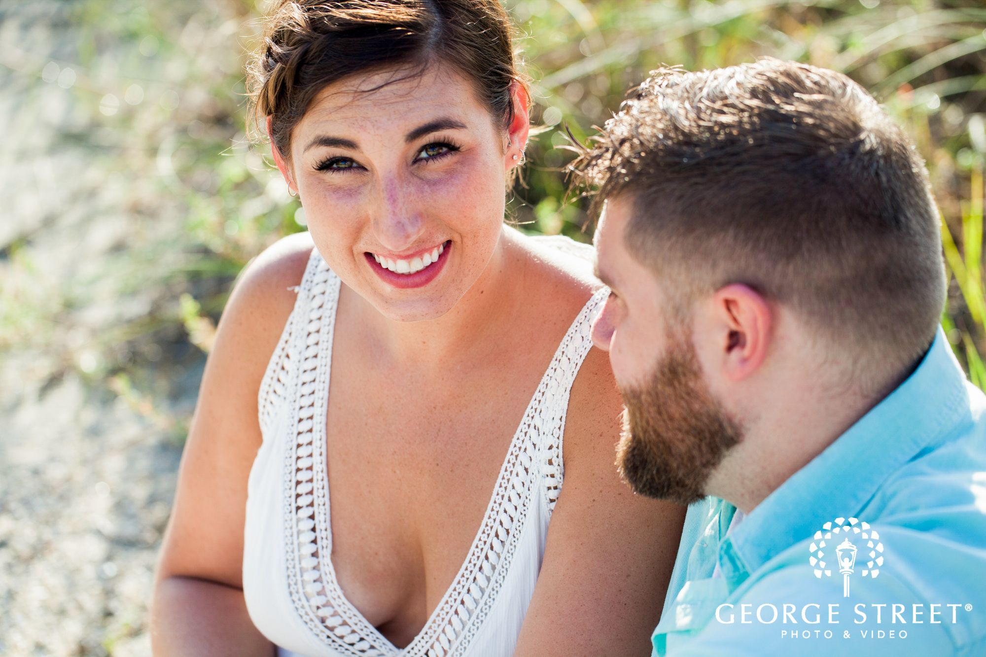 sunny charleston engagement photos