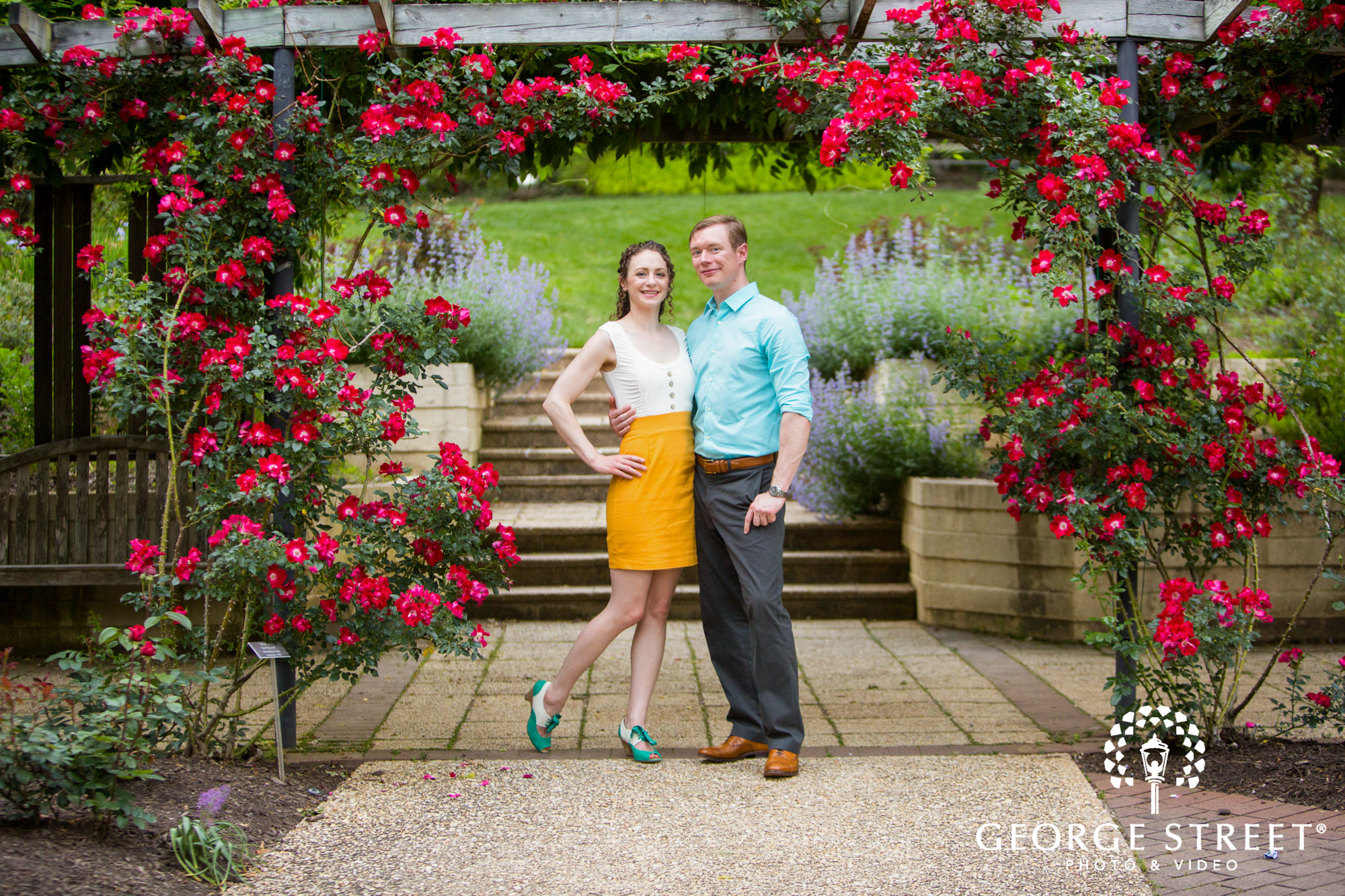 Brookside Gardens Engagement Photography George Street