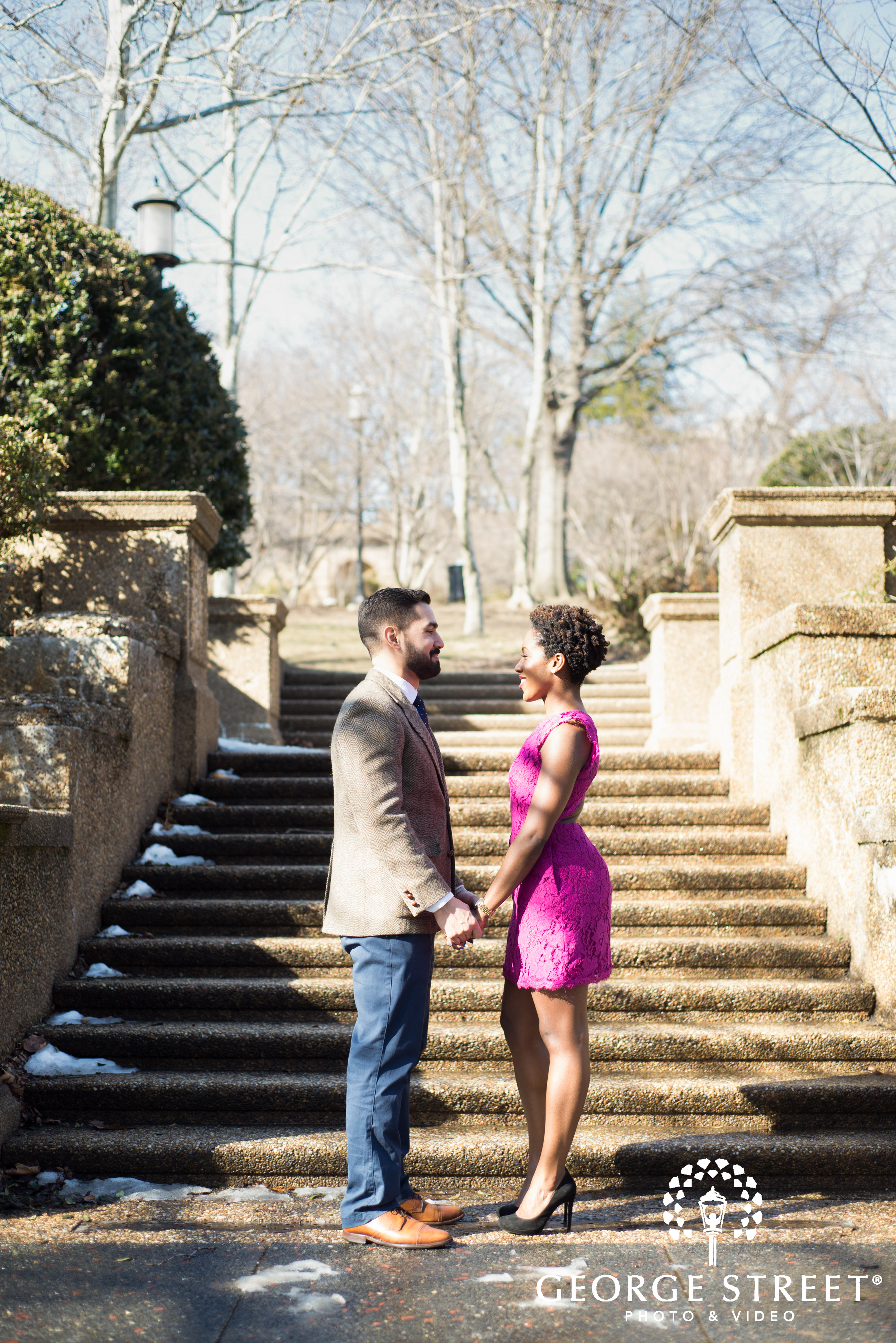 meridian hill park outdoor engagement session