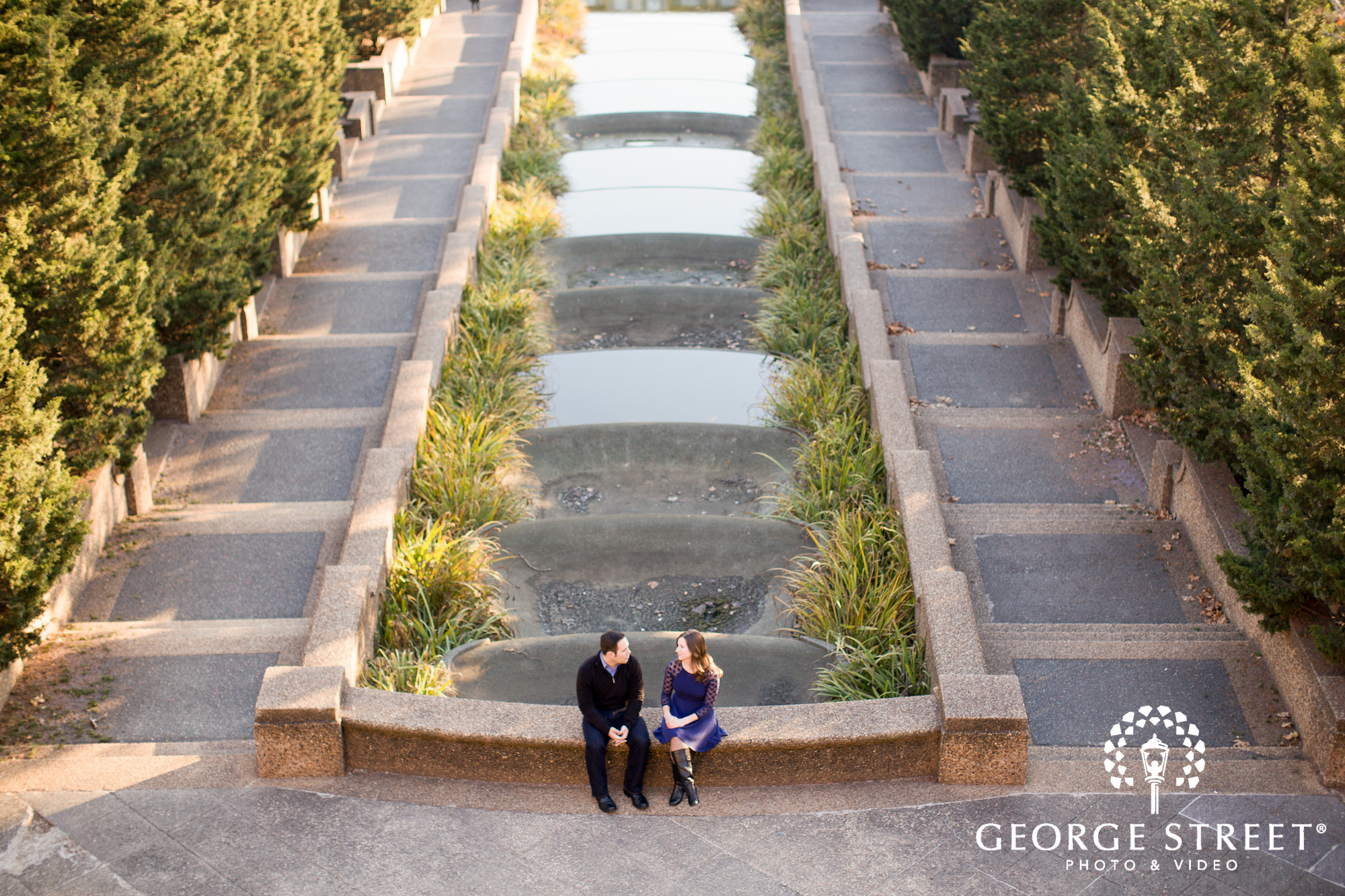 beautiful engagement session at meridian hill park
