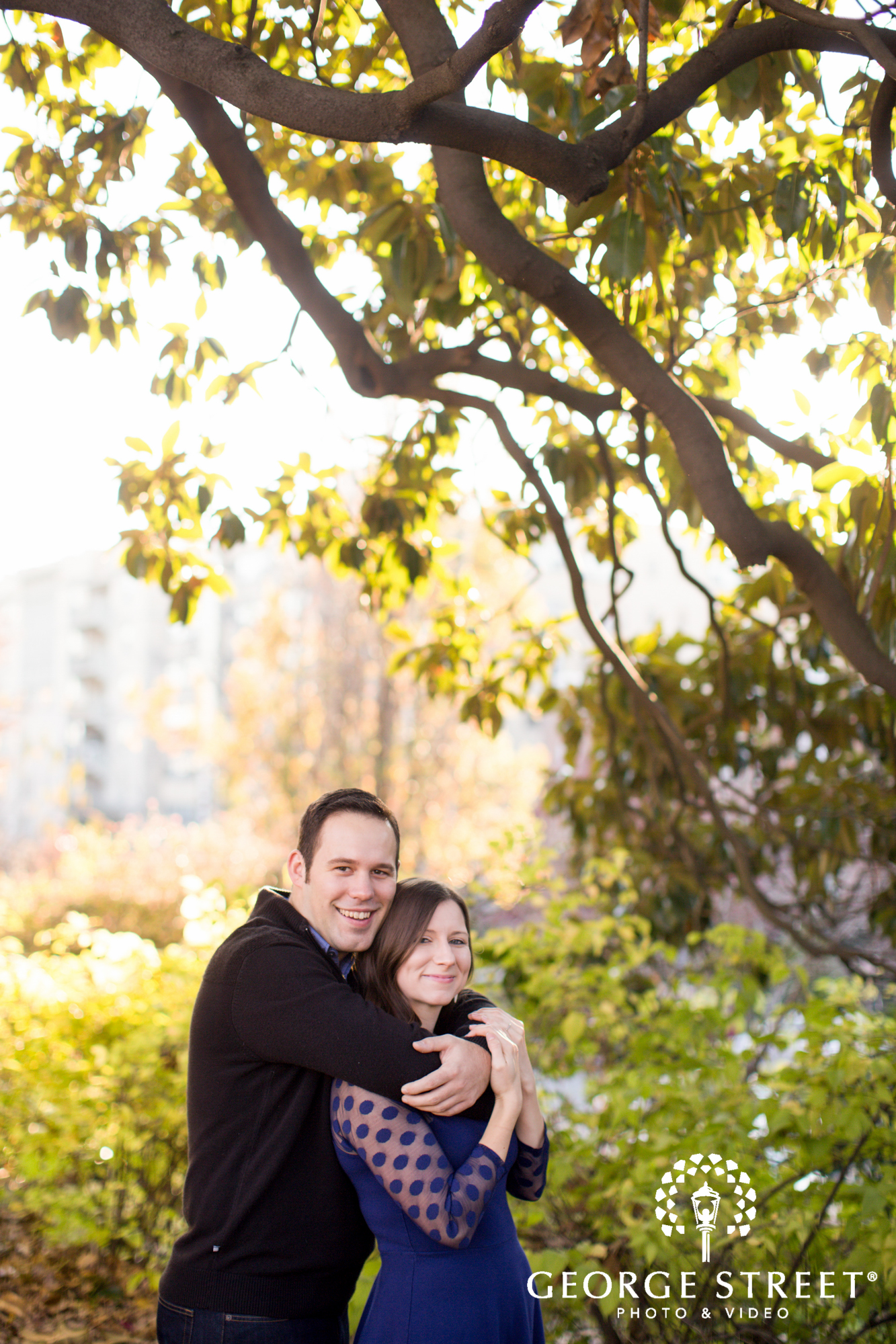 bright natural light engagement session