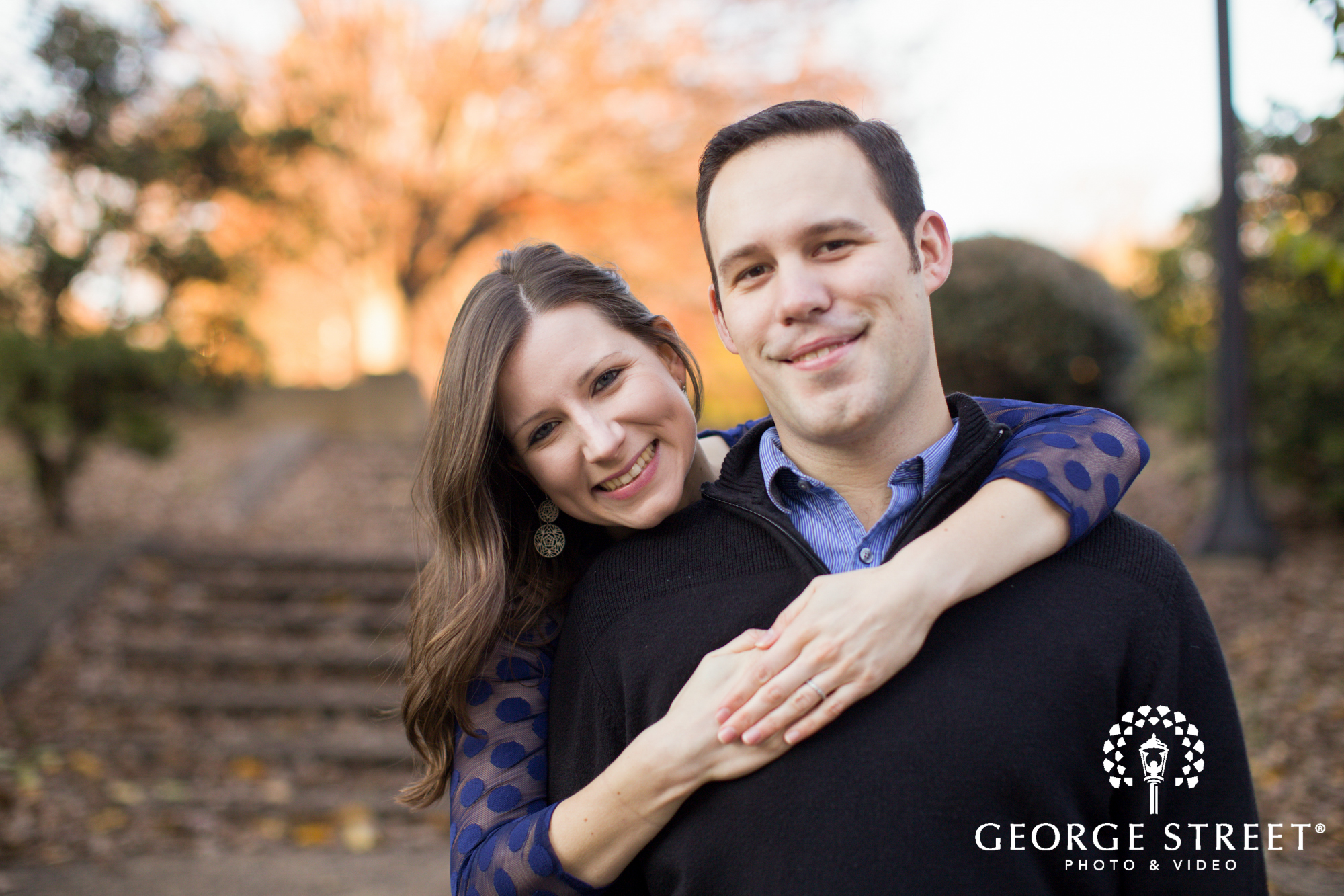 natural light fall engagement session