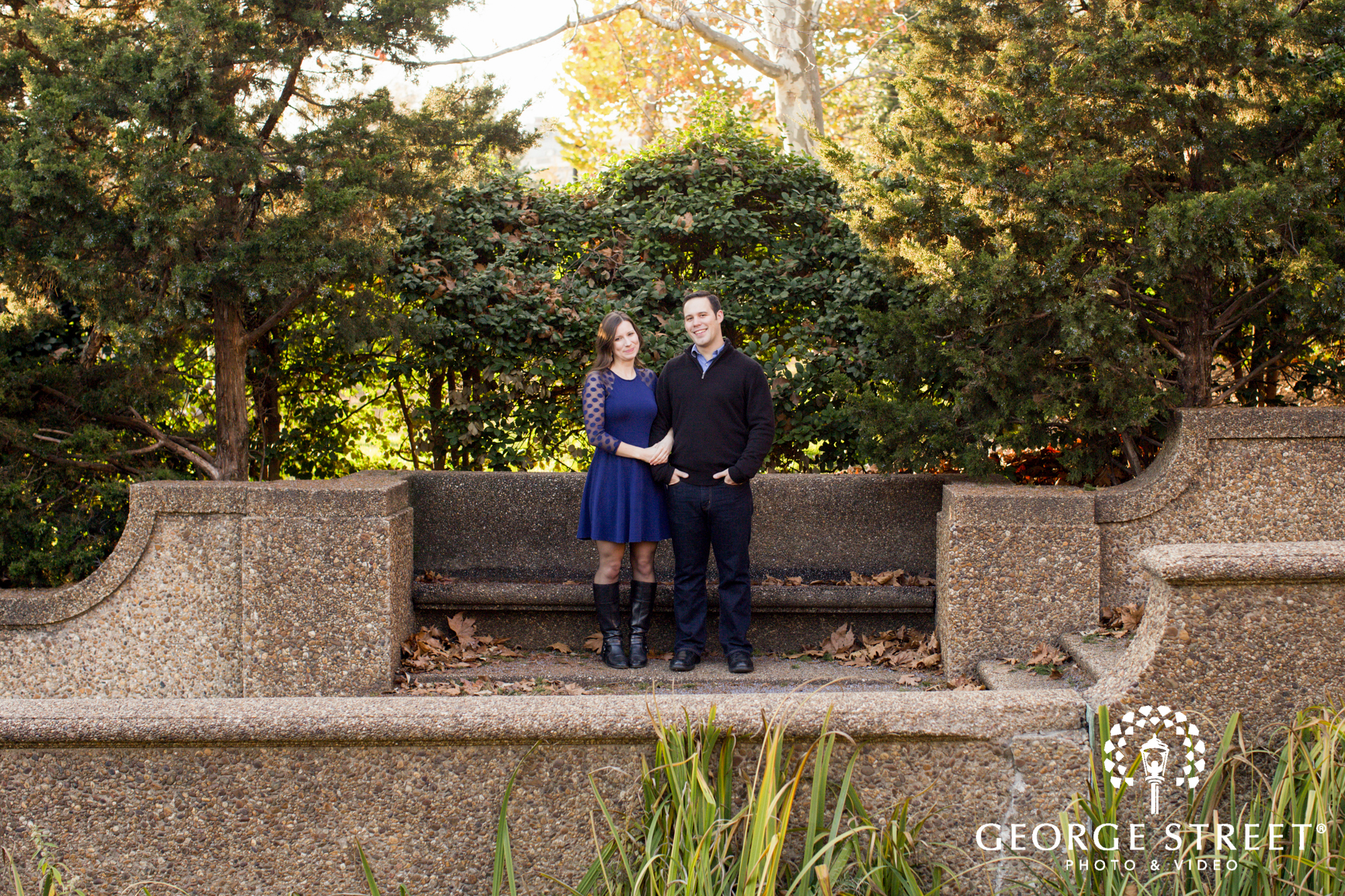 semi formal fall engagement session