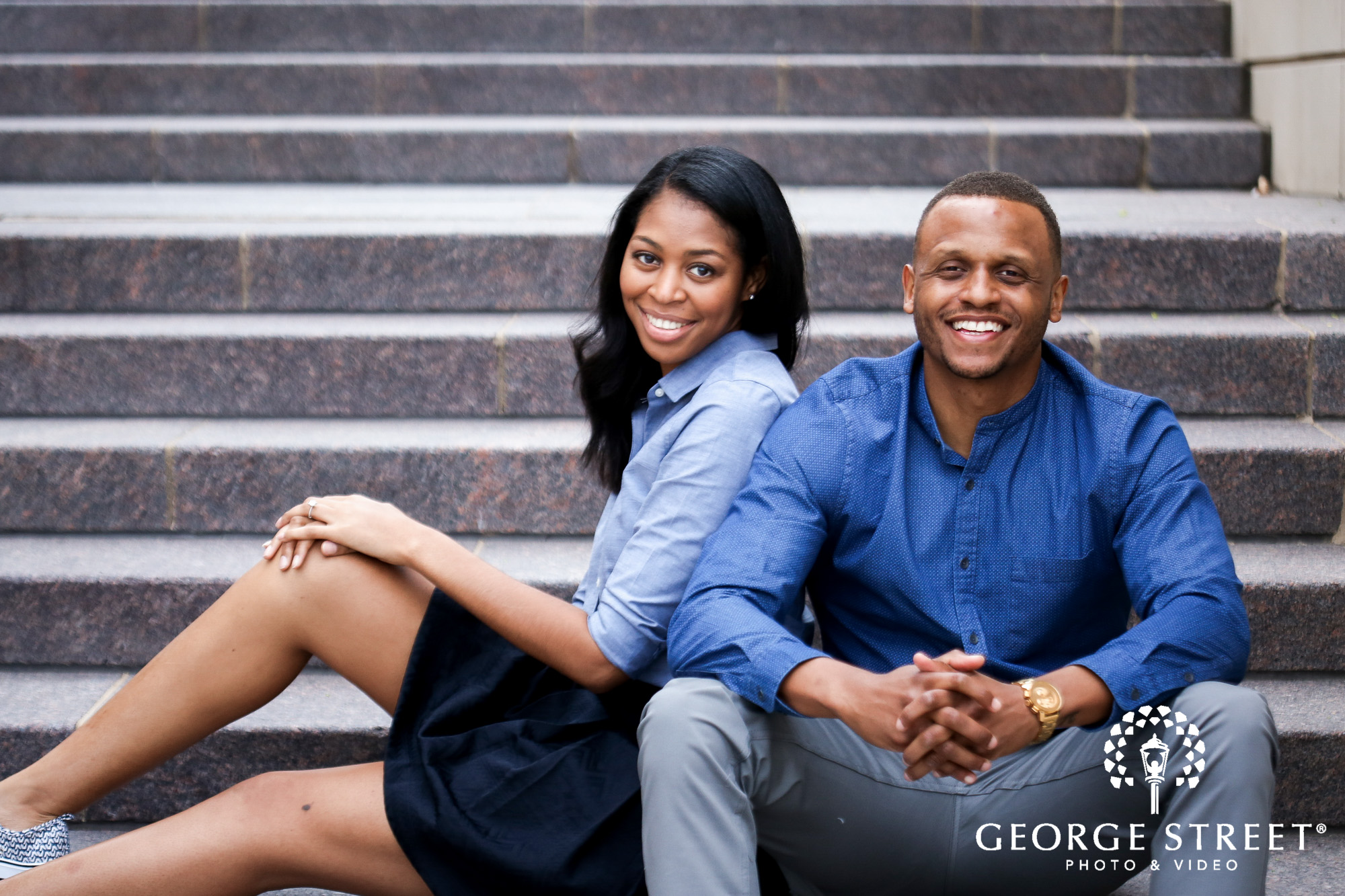 cheerful candid engagement photos at the national harbor washington dc