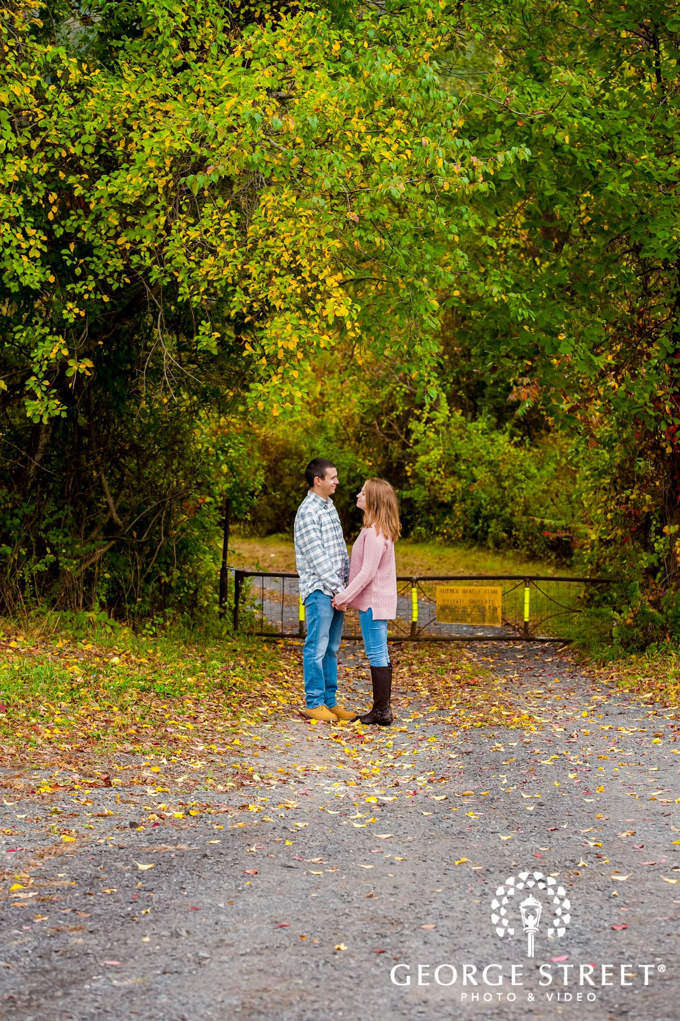 lyman orchards cute trees fall hartford engagement photography
