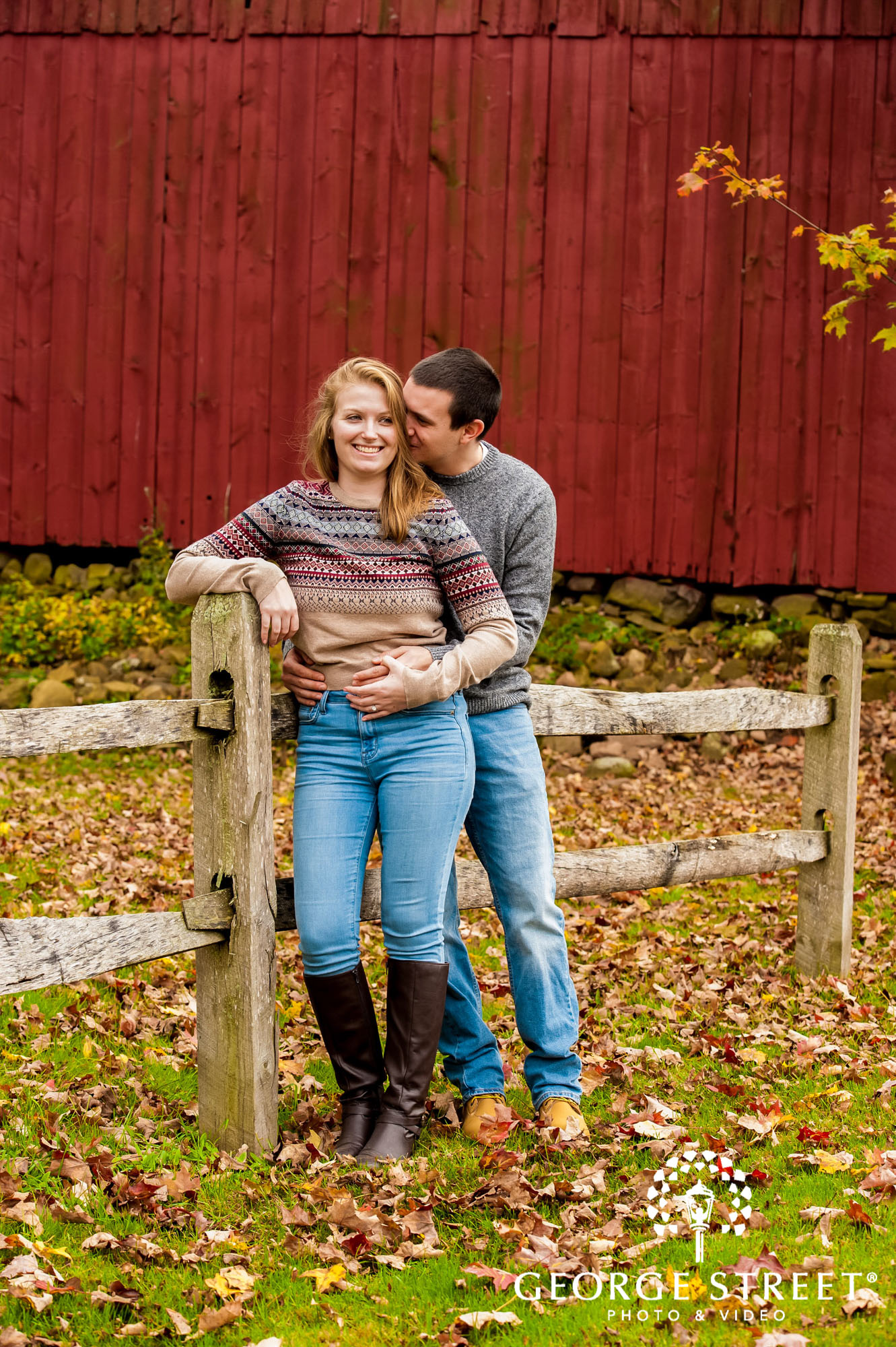 lyman orchards cute boots fence hartford engagement photography 2