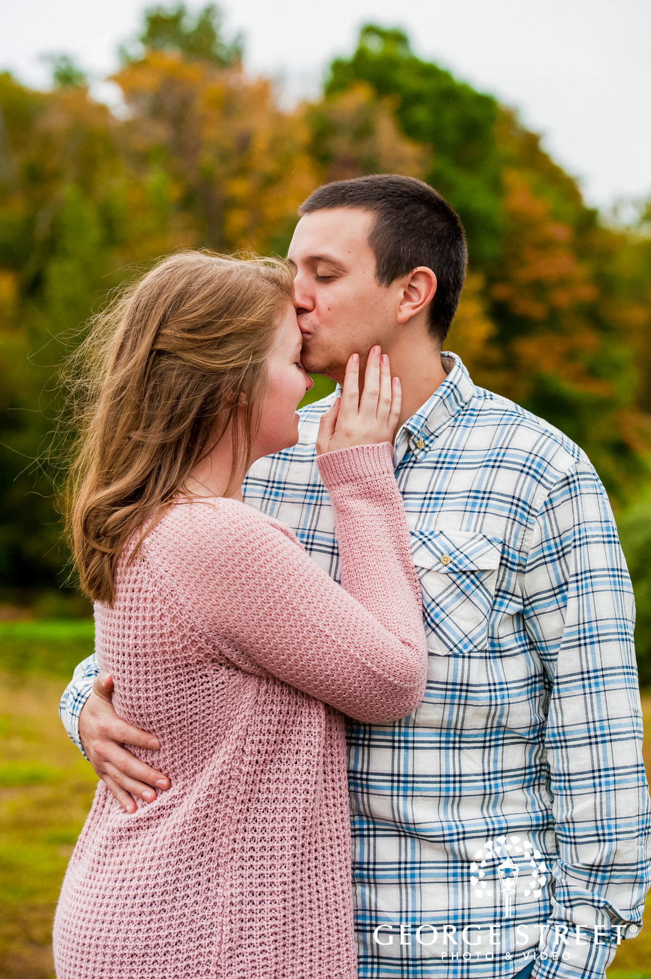 lyman orchards cute greenery sweater hartford engagement photography 3
