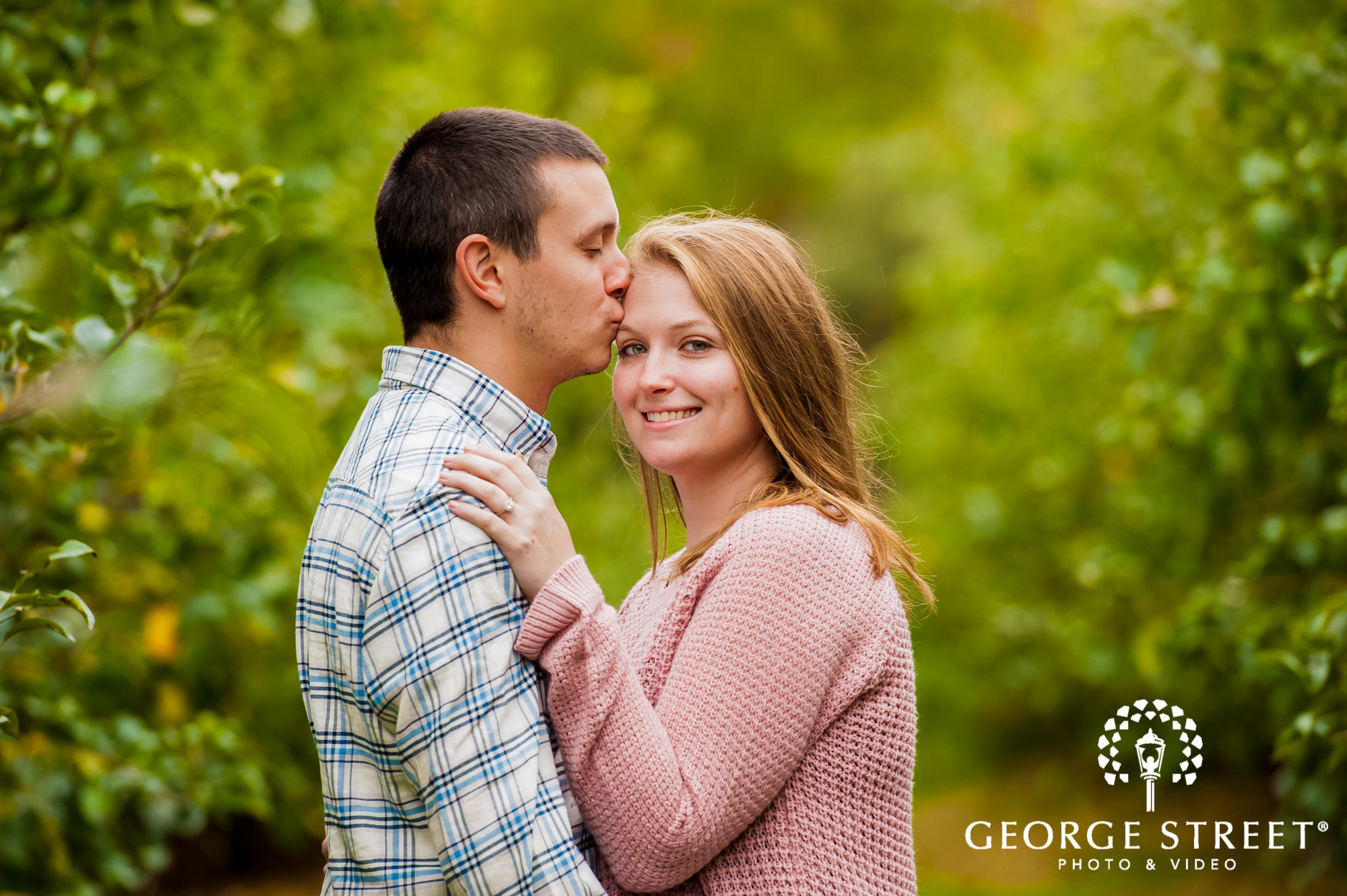 lyman orchards cute greenery sweater hartford engagement photography 6