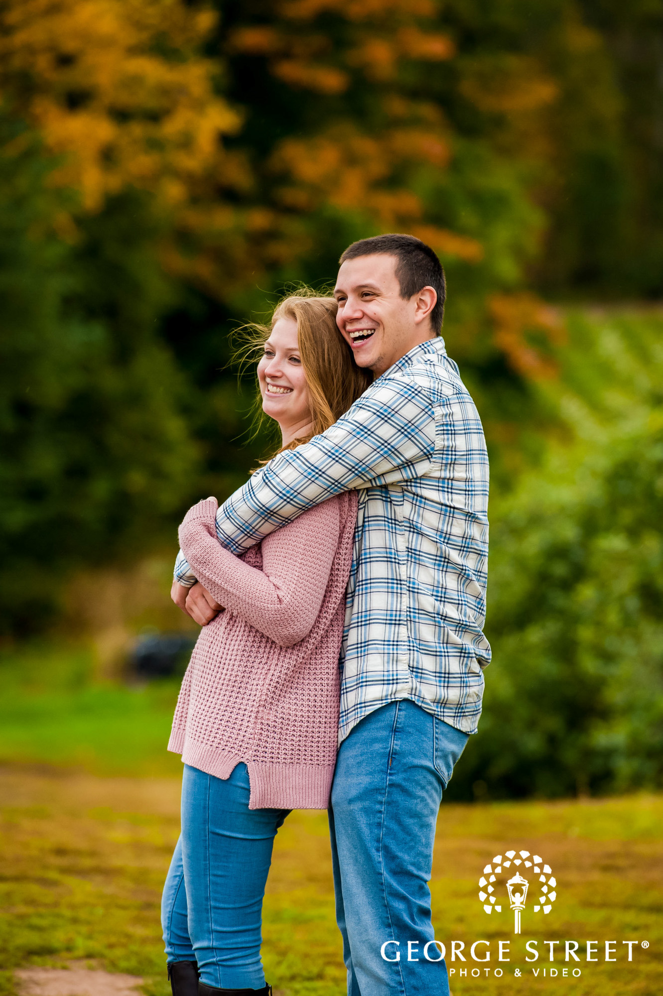 lyman orchards cute greenery sweater hartford engagement photography