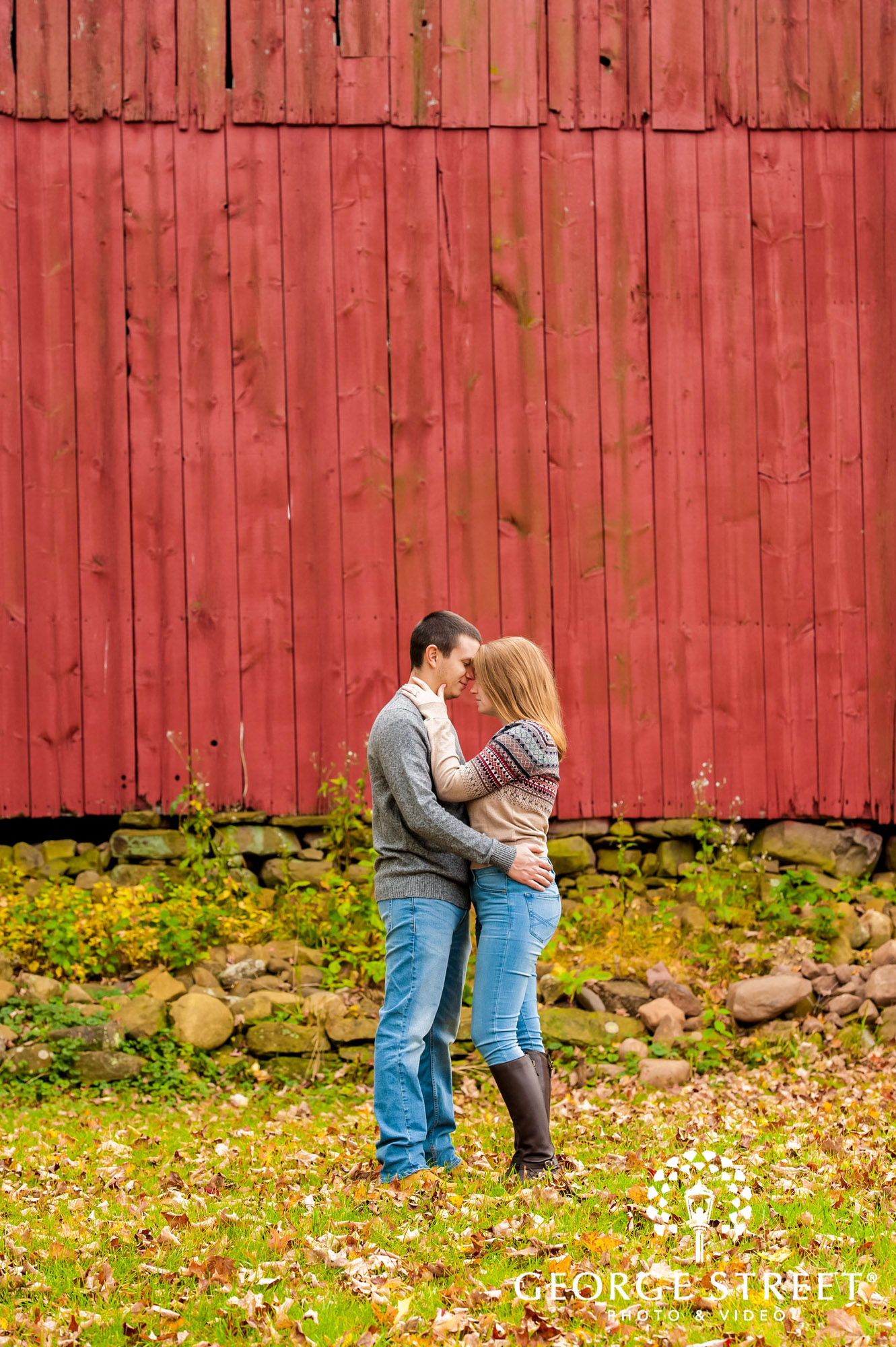 lyman orchards cute red wall hartford engagement photography 3