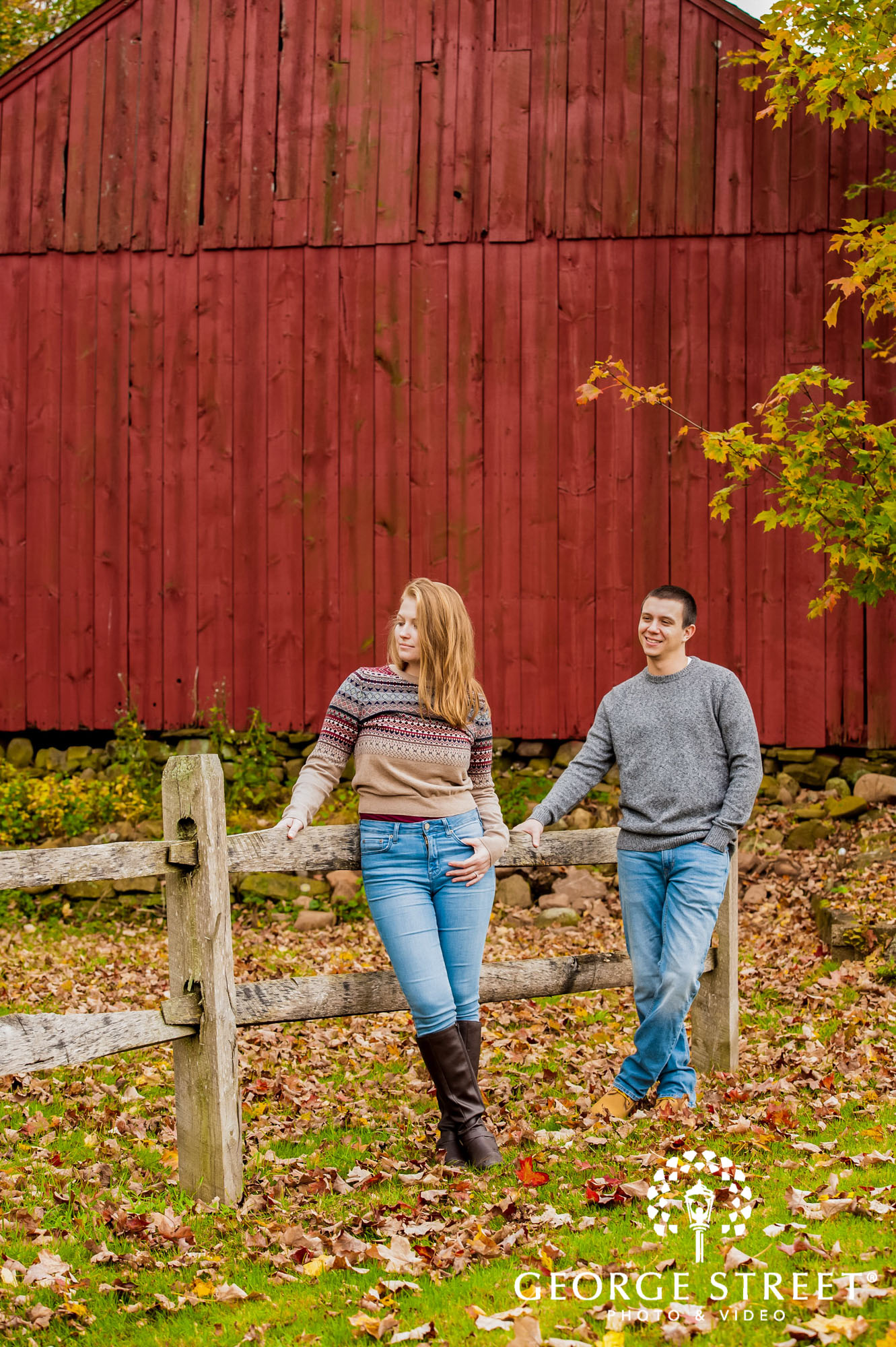 lyman orchards cute red wall hartford engagement photography 4