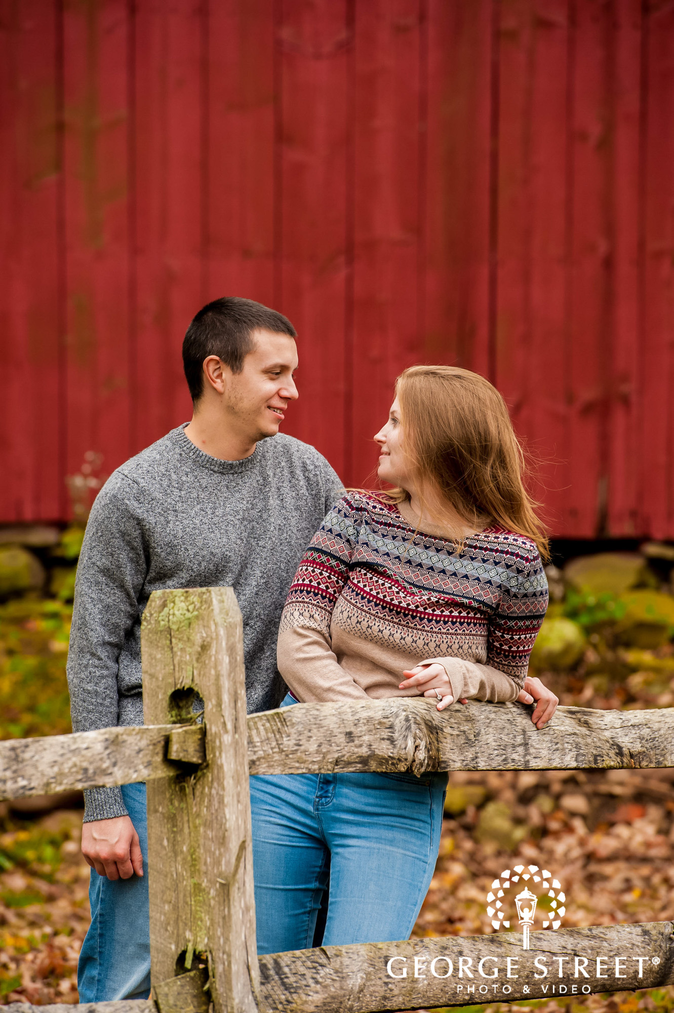 lyman orchards cute red wall hartford engagement photography 5