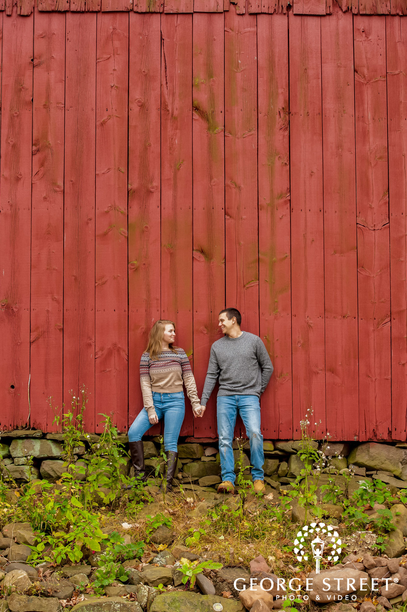 lyman orchards cute red wall hartford engagement photography