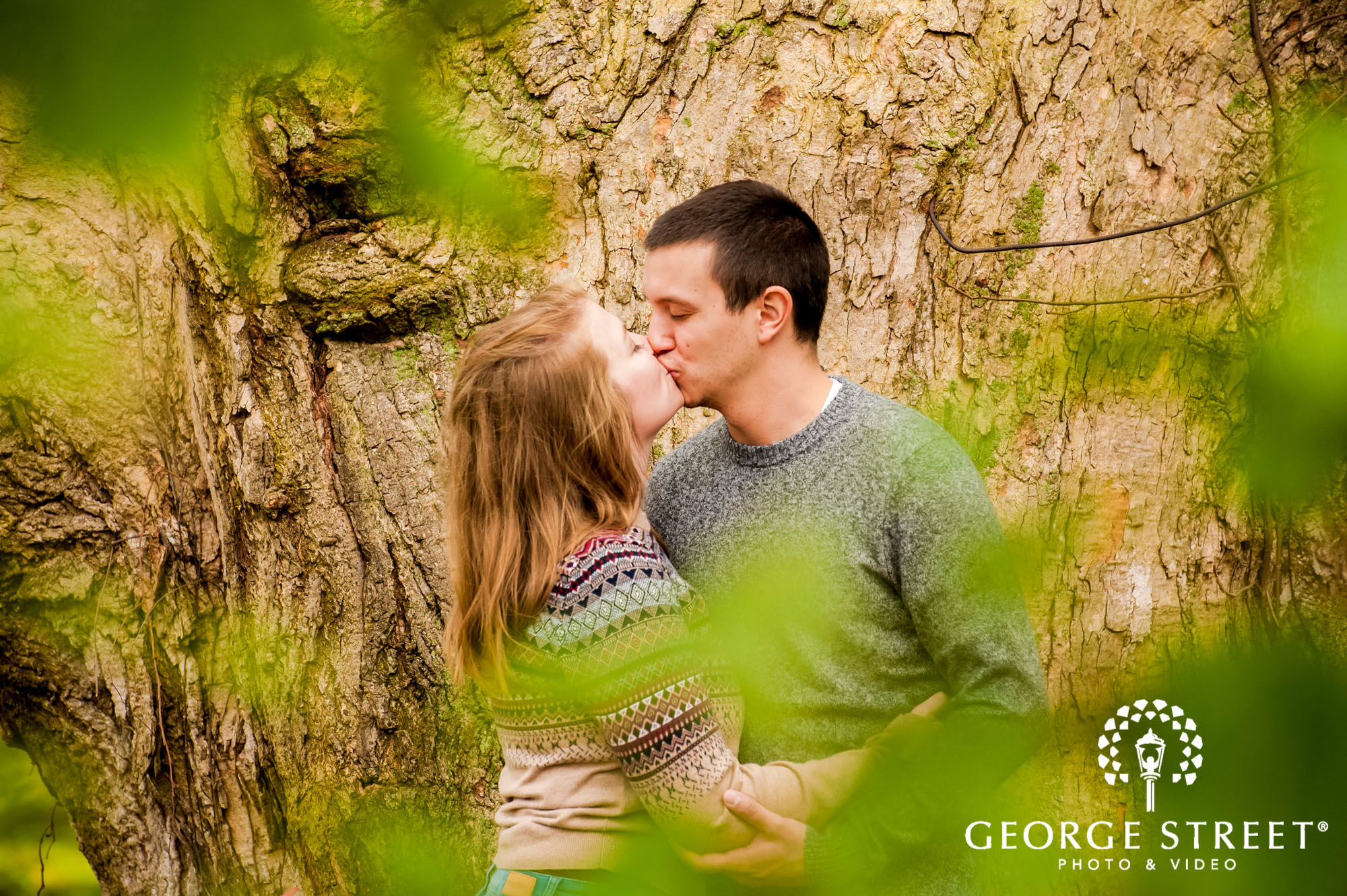 lyman orchards romantic leaf hartford engagement photography 3