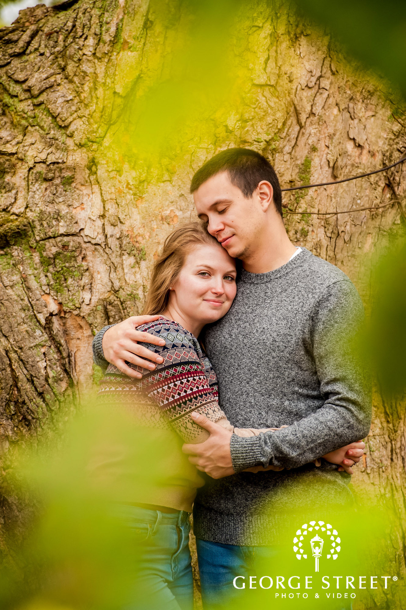 lyman orchards romantic leaf hartford engagement photography