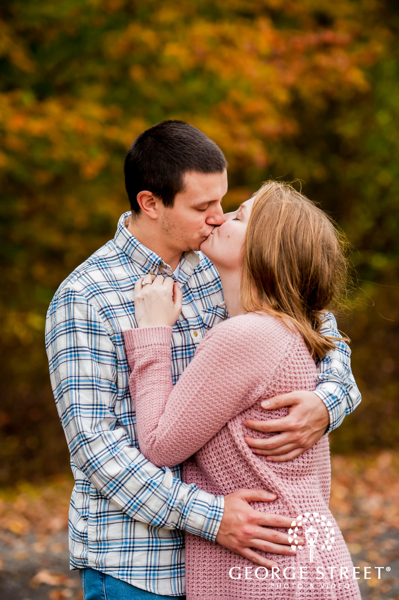 lyman orchards romantic leaves hartford engagement photography 2