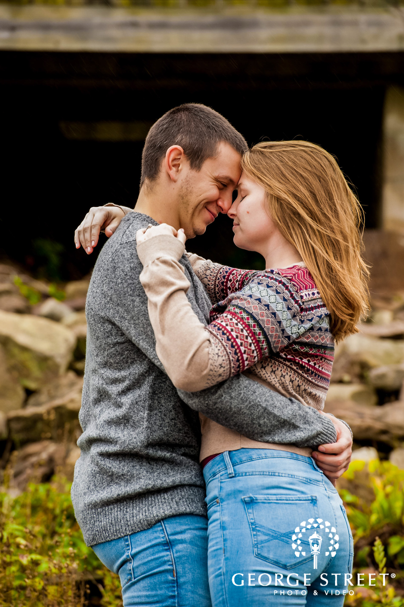 lyman orchards romantic rocks hartford engagement photography